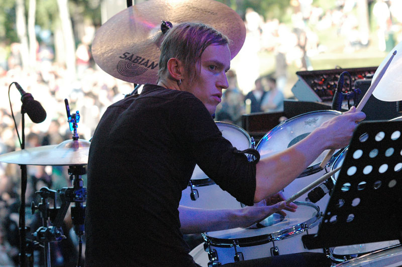Kenneth Kapstad of Motorpsycho, Performing with Trondheim Jazz Orchestra and Trondheimsolistene, Molde Jazz 2010