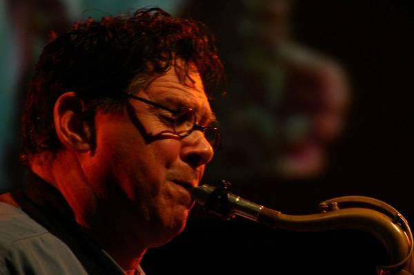 """Bruce Ackley with """"Rova Saxophone Quartet"""" at Maison de la Radio, RSR, Espace 2, Lausanne, Switzerland, 2004"""