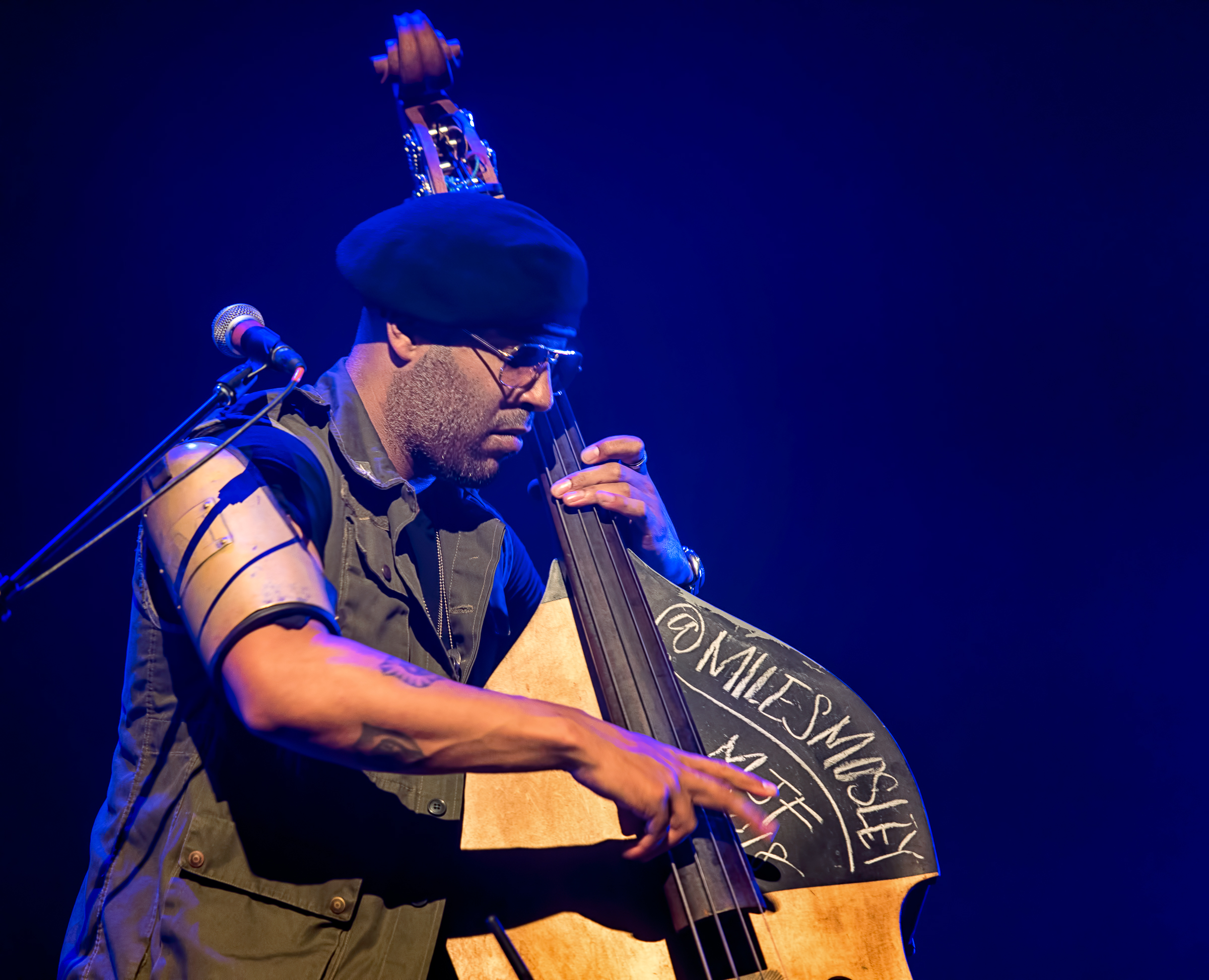 Miles Mosley with Kamasi Washington at the Montreal International Jazz Festival 2018