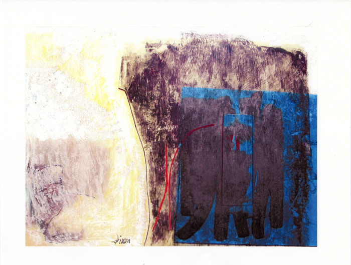 "Bill Dixon Gallery: Untitled Painting - Ink, Acrylic on Paper 9 1/2 X 11"" [1998]"