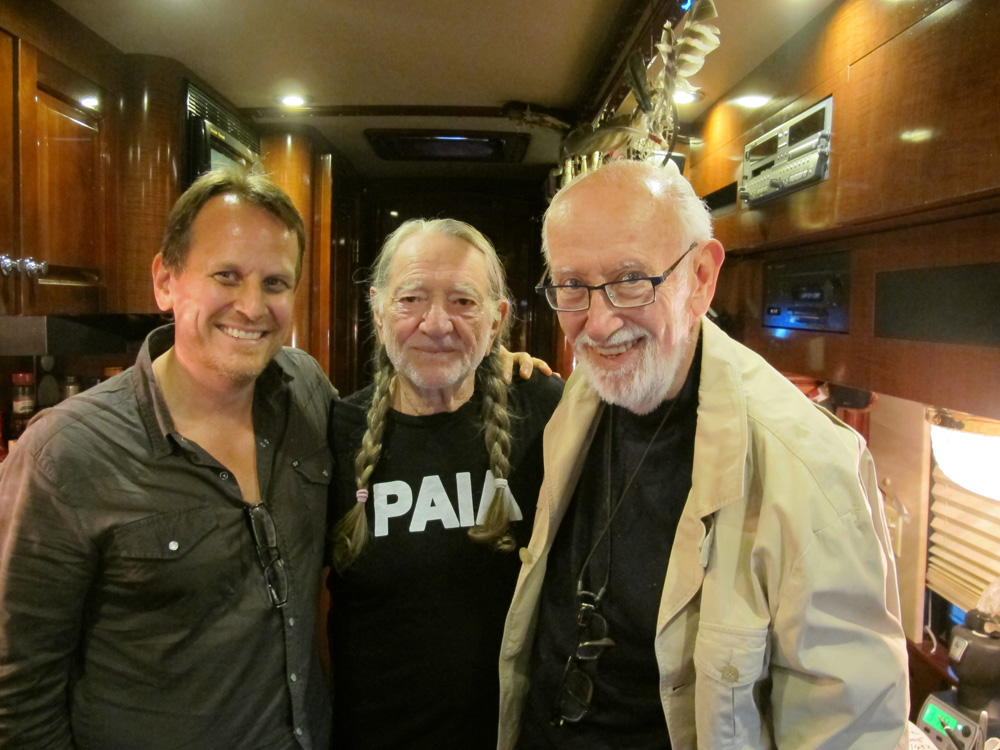 Brian Camelio, Willie Nelson and Bruce Lundvall
