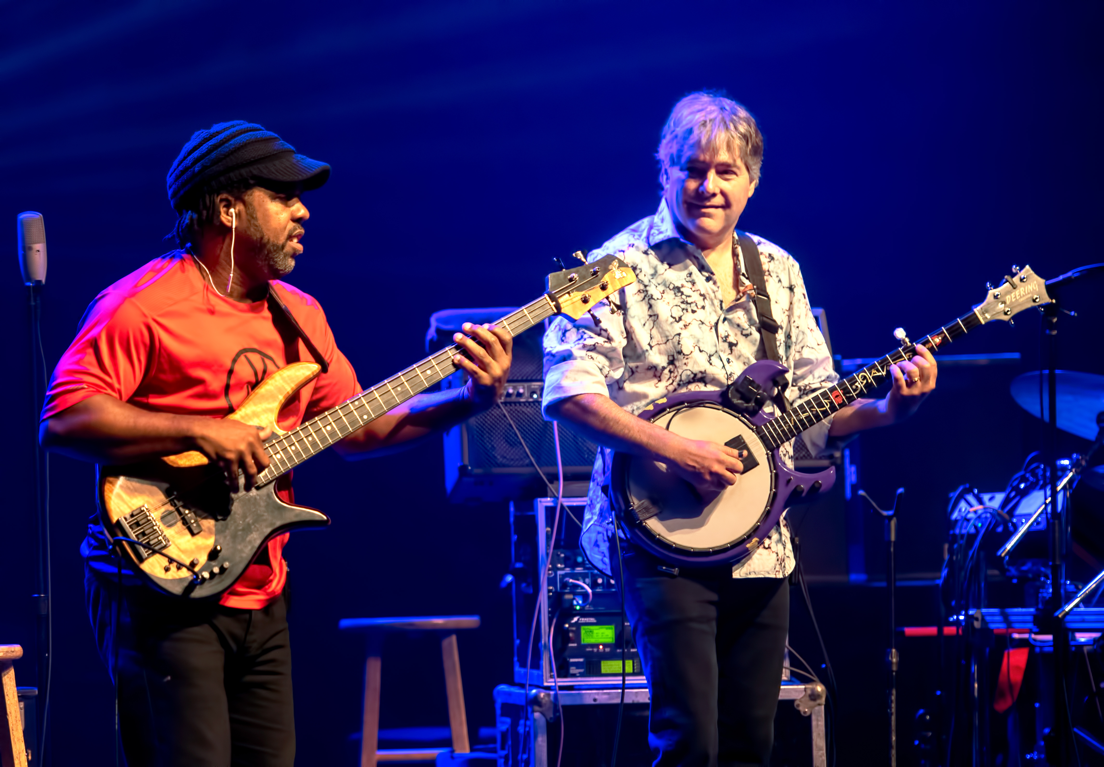 Victor Wooten with Bela Fleck and the Flecktones at The Montreal International Jazz Festival 2018
