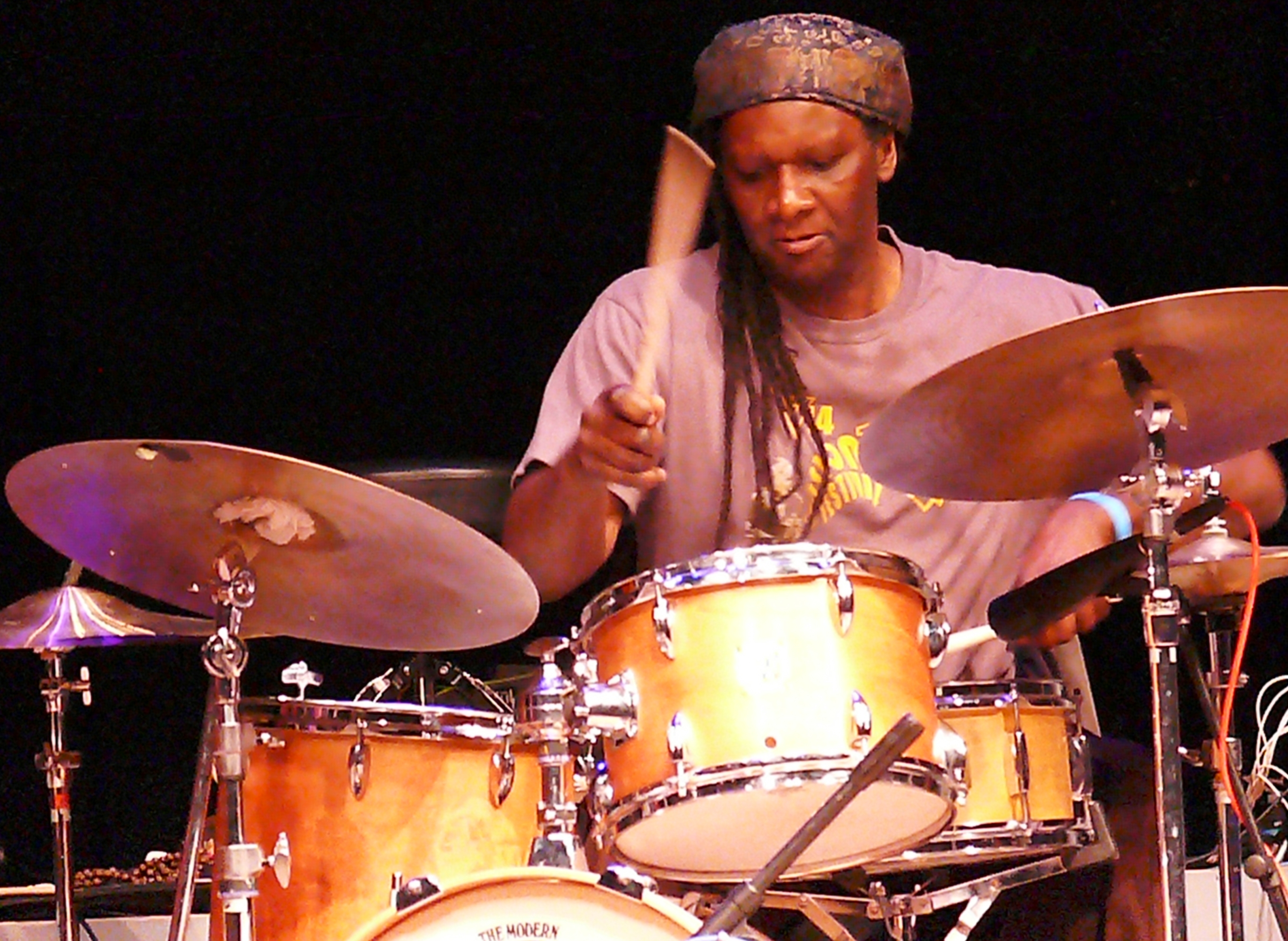 Hamid drake at the vision festival, new york in june 2013