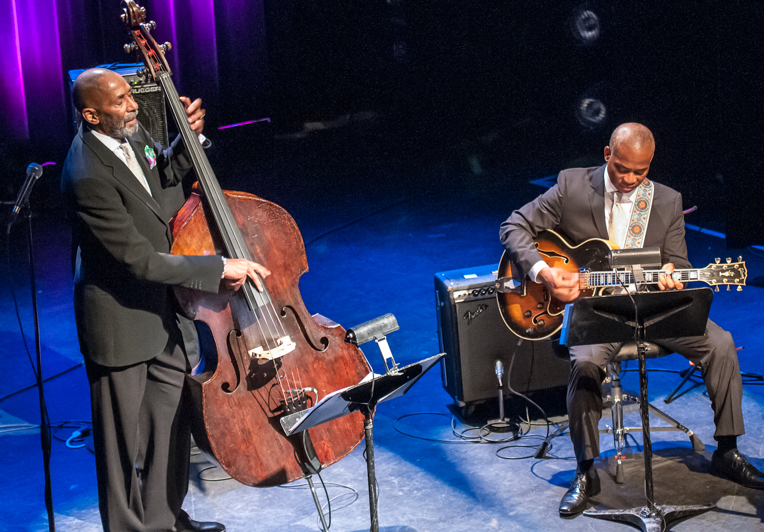Ron Carter and Russell Malone at the Montreal International Jazz Festival 2012