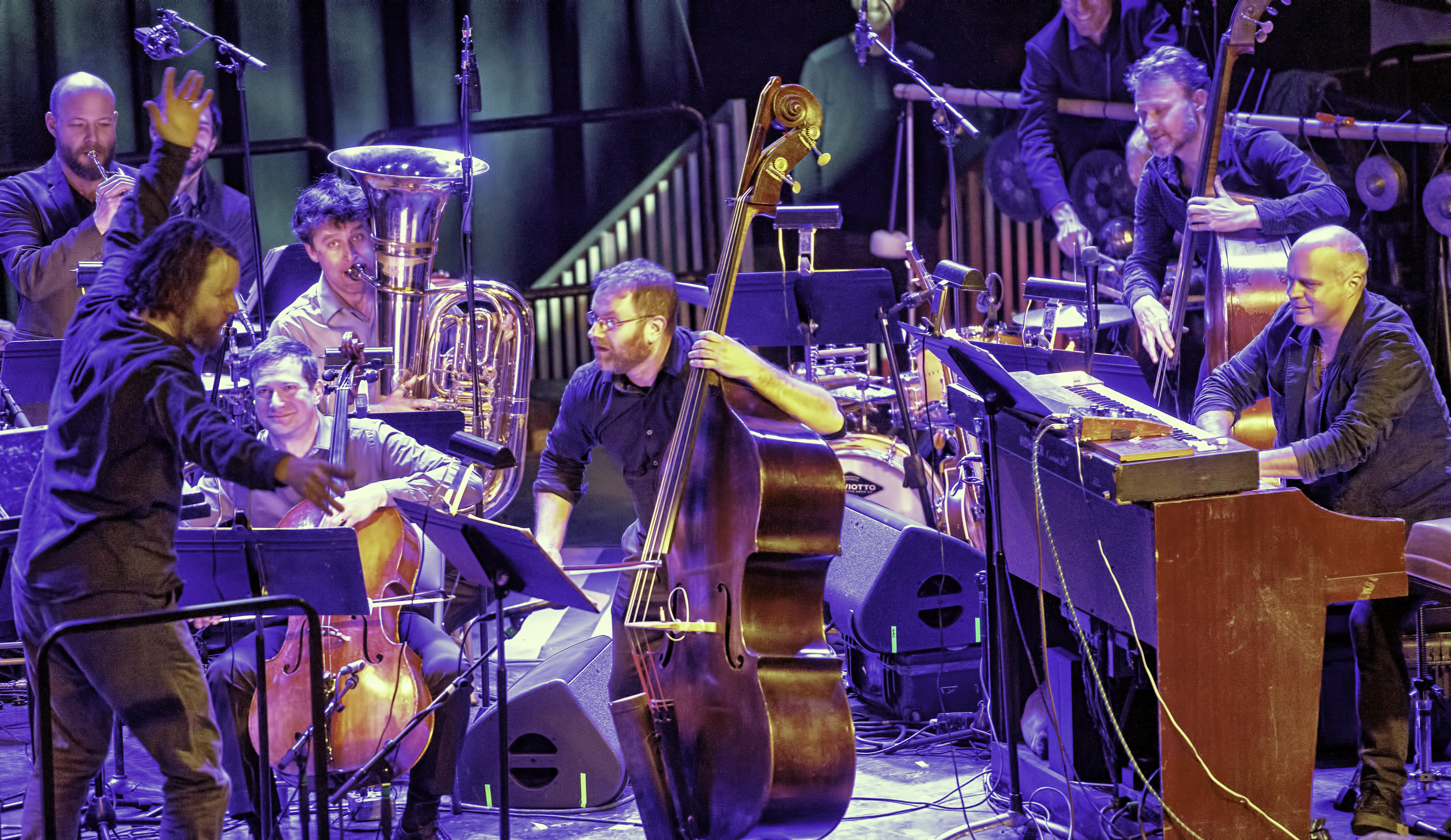 Alan Pierson and Miles Brown with Alarm Will Sound and Medeski, Martin and Wood at the NYC Winter Jazzfest 2019
