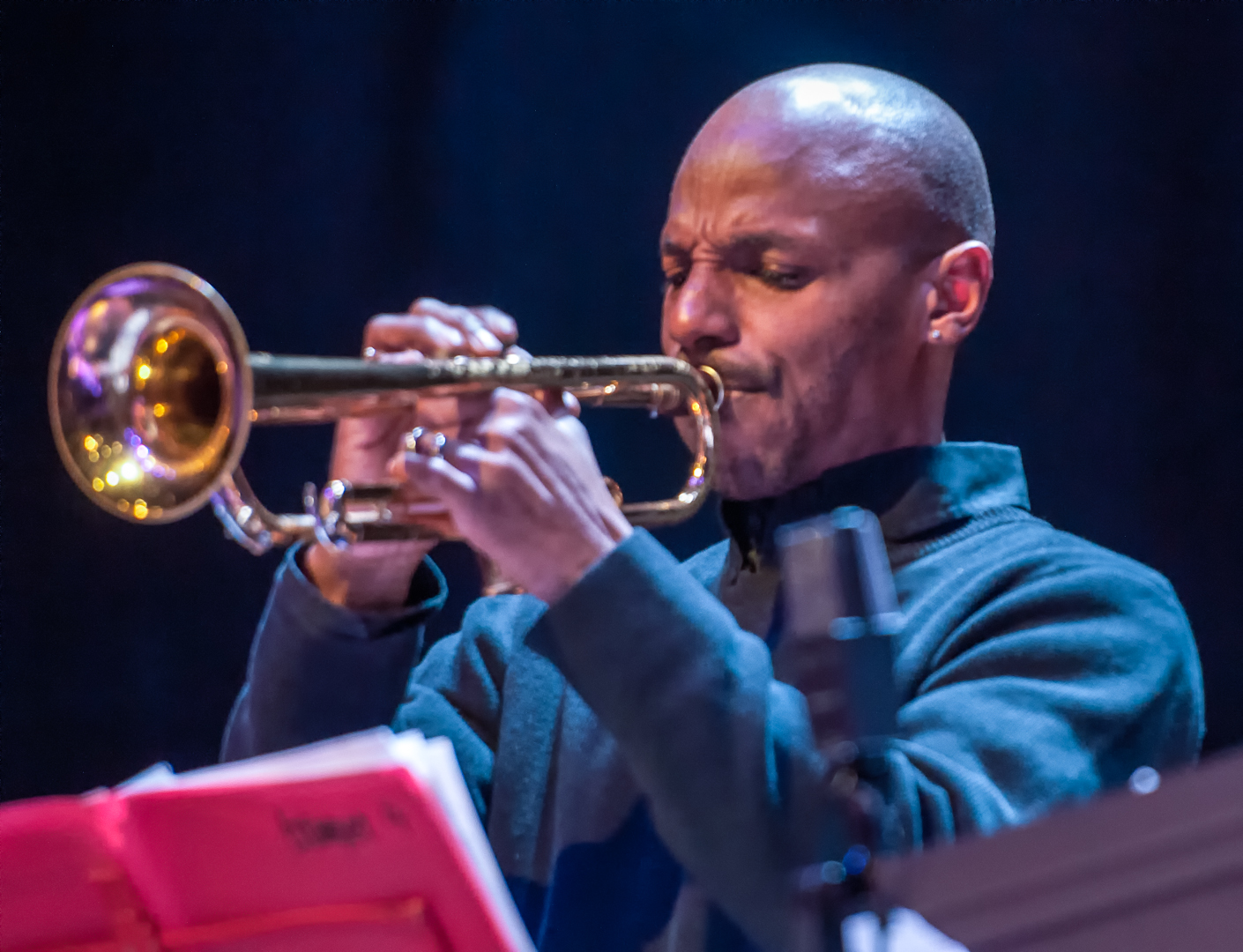 Duane Eubanks with the Oliver Lake Big Band at Roulette
