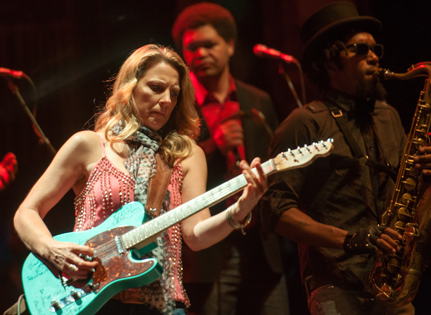 Susan Tedeschi, Mike Mattison and Kebbie Williams with the Tedeschi Trucks Band at the Beacon