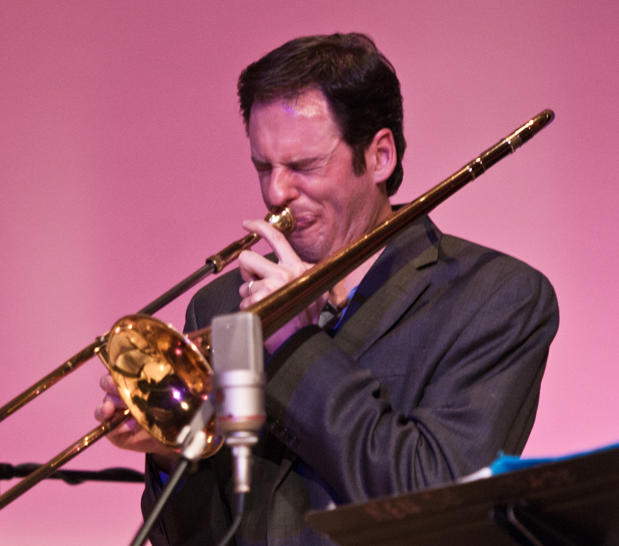 Joel Yennior with the Either/Orchestra at the New School for Jazz