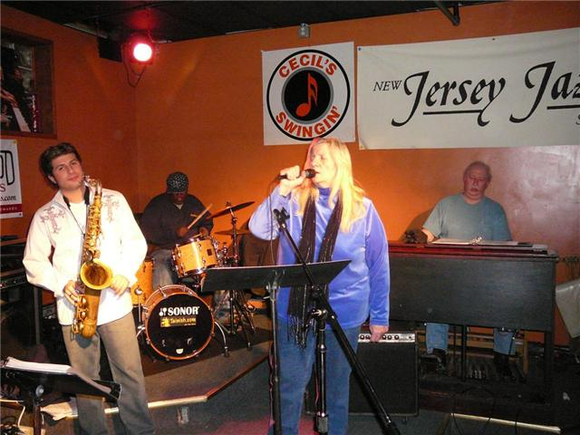 Mark and Sheila at Cecils' Jazz Club in West Orange, NJ