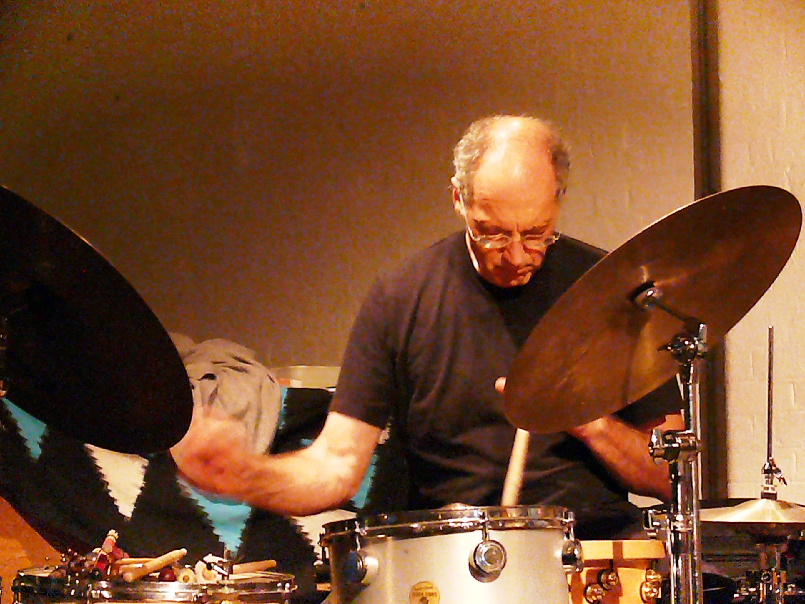 Paul Lytton at Cafe Oto, London in May 2011