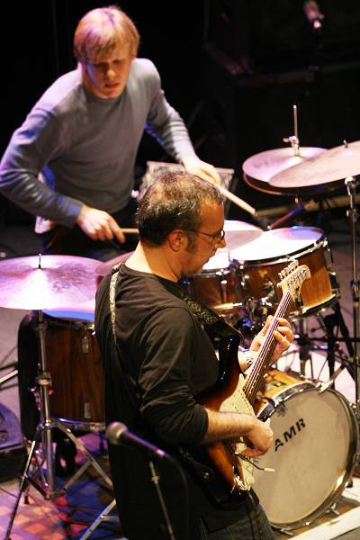 """Ahmad Mansour and Ted Poor with """"Ahmad Mansour - Public Domain"""" at the Amr Jazz Festival, Alhambra, Geneva, Switzerland, April 2"""