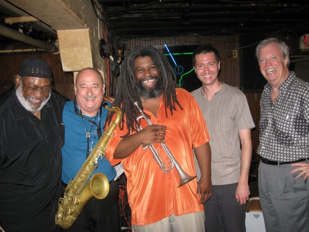 Dr. James Polk, Tony Campise, Jeff Lofton, Chris Jones, and Butch Miles at the Elephant Room