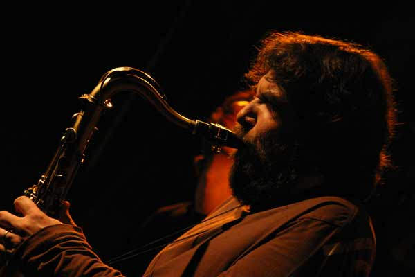 "Emmanuele Cisi with ""Aldo Romano - Because of Bechet"" at Amr, Sud Des Alpes, Geneva, Switzerland, 2005"