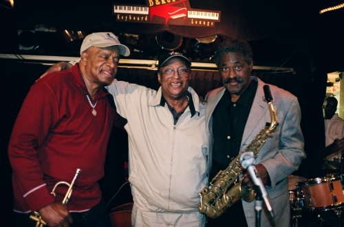 Donald Byrd, Curtis Fuller and Charles McPherson at Baker's Keyboard Lounge's 70th Anniversary Celebration; 2004.