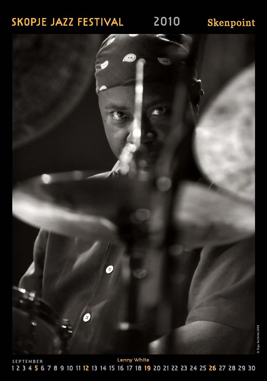 Lenny White / Skopje Jazz Festival 2010 Calendar / Photo by:Ziga Koritnik