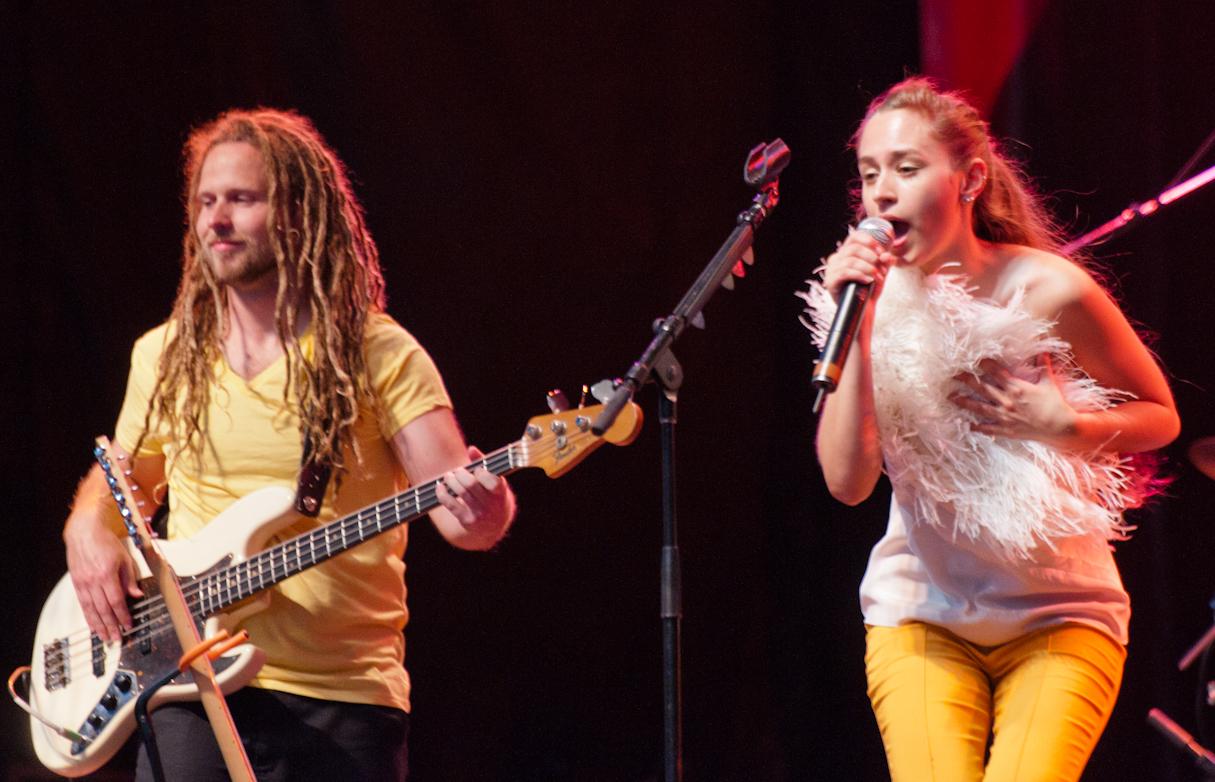 Thomas D'Arbigny and Nina Attal at the Montreal International Jazz Festival 2011