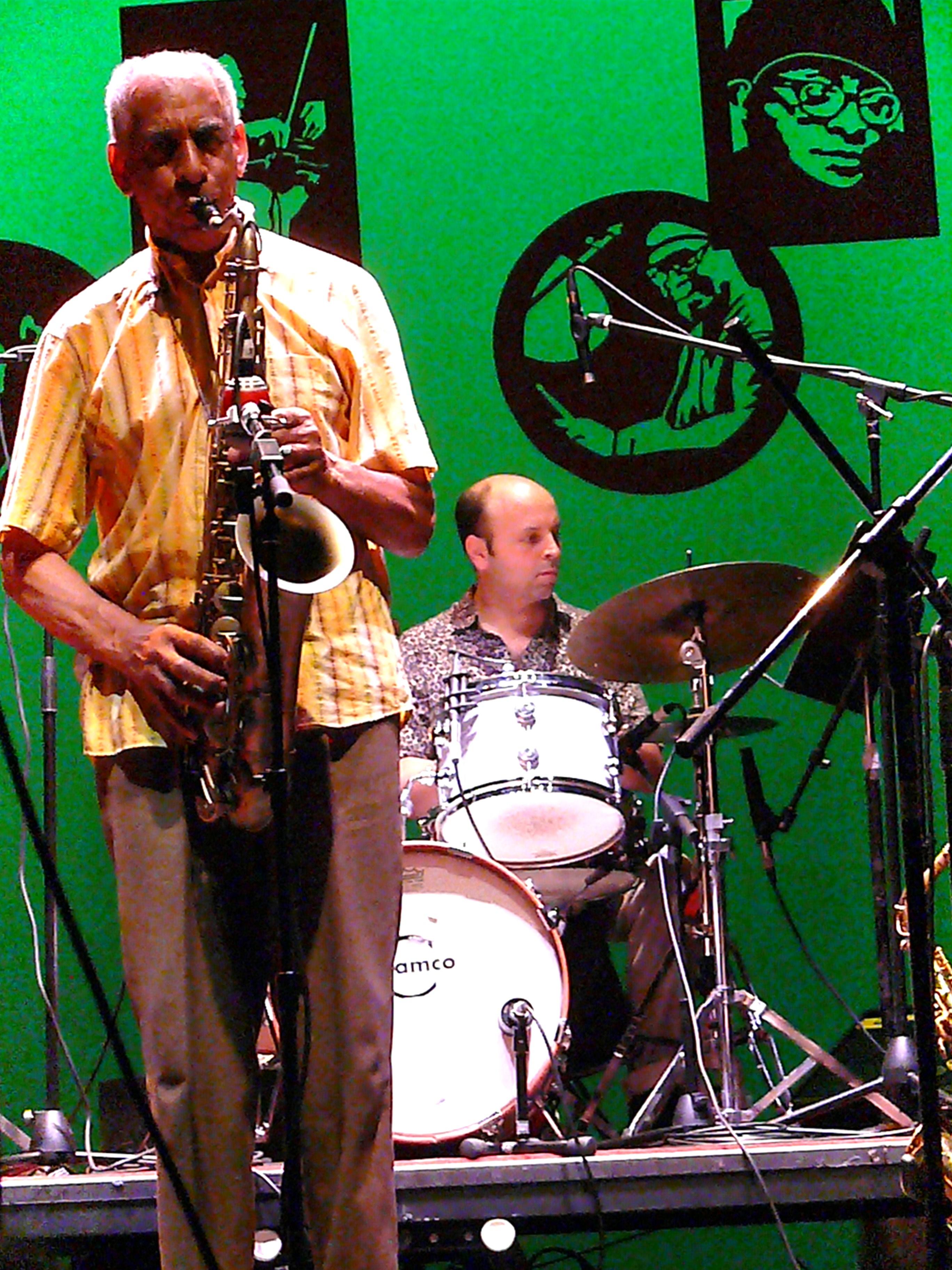 John Tchicai and Rob Garcia at Vision Festival 2010