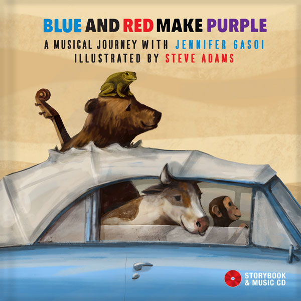 "Jennifer Gasoi Releases The Storybook-Music CD ""Blue And Red Make Purple"" On October 1, 2016"