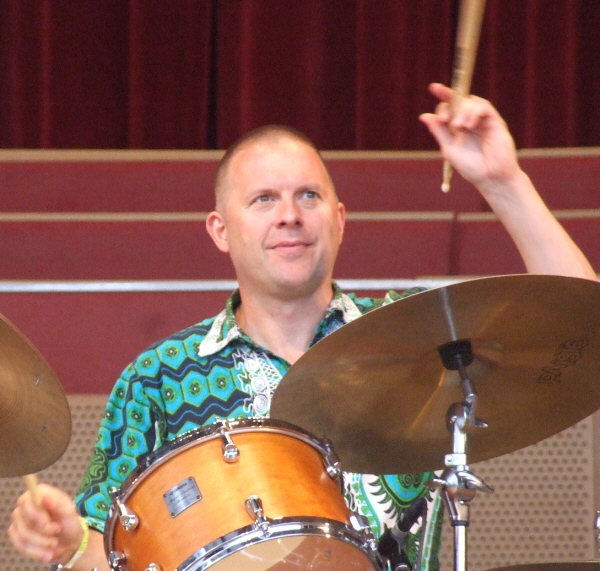 Joe Farnsworth with the Mike Ledonne Quartet at 2010 Chicago Jazz Festival