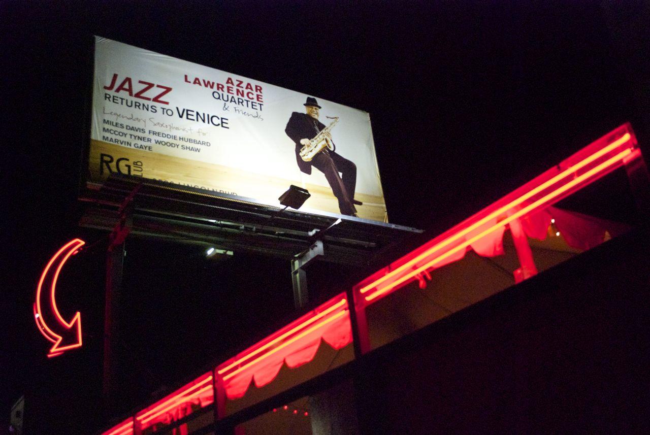 Azar lawrence billboard, rg club, venice, ca