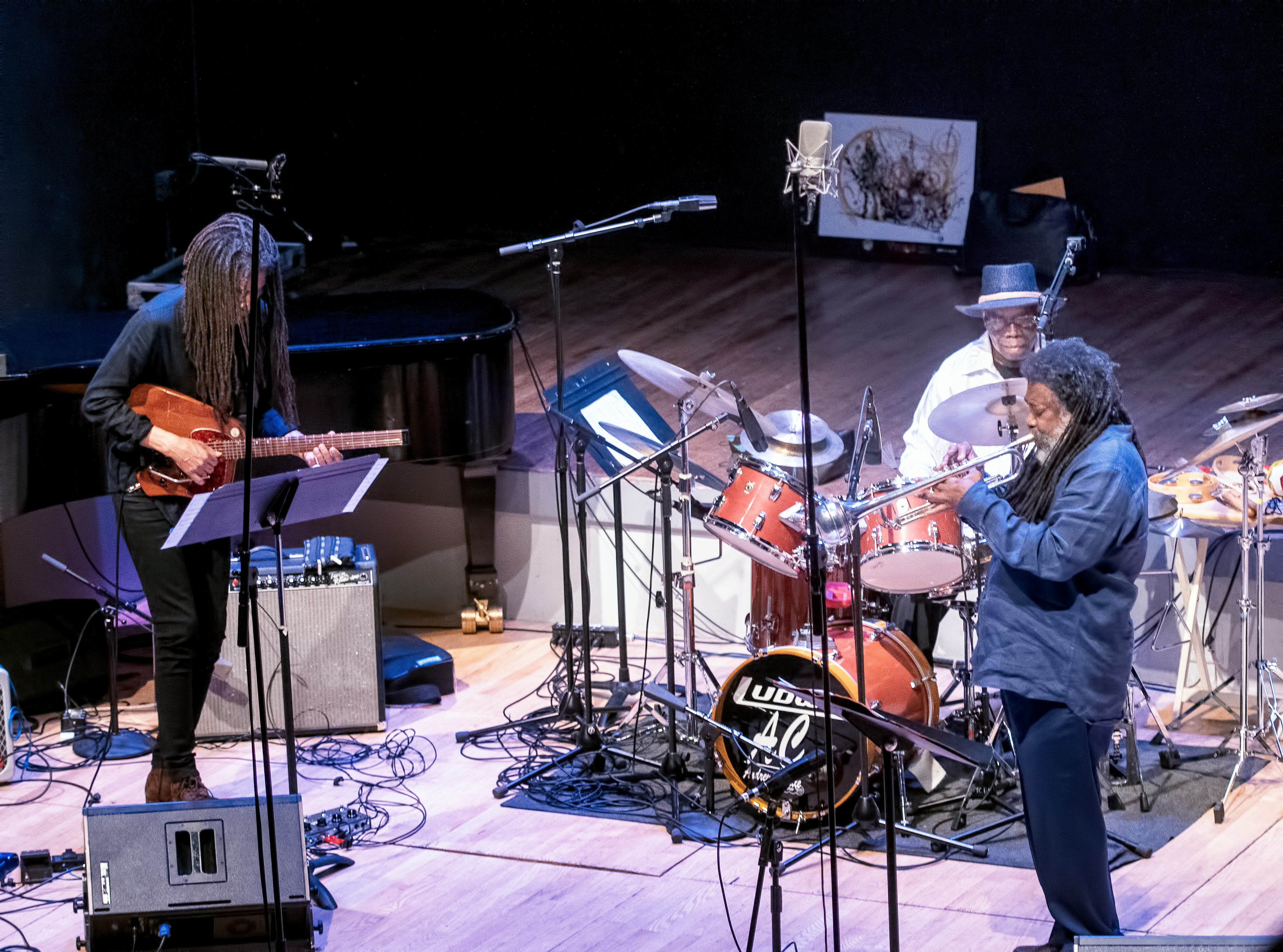 Brandon Ross, Wadada Leo Smith with Andrew Cyrille and Lebroba At the Vision Festival 2019