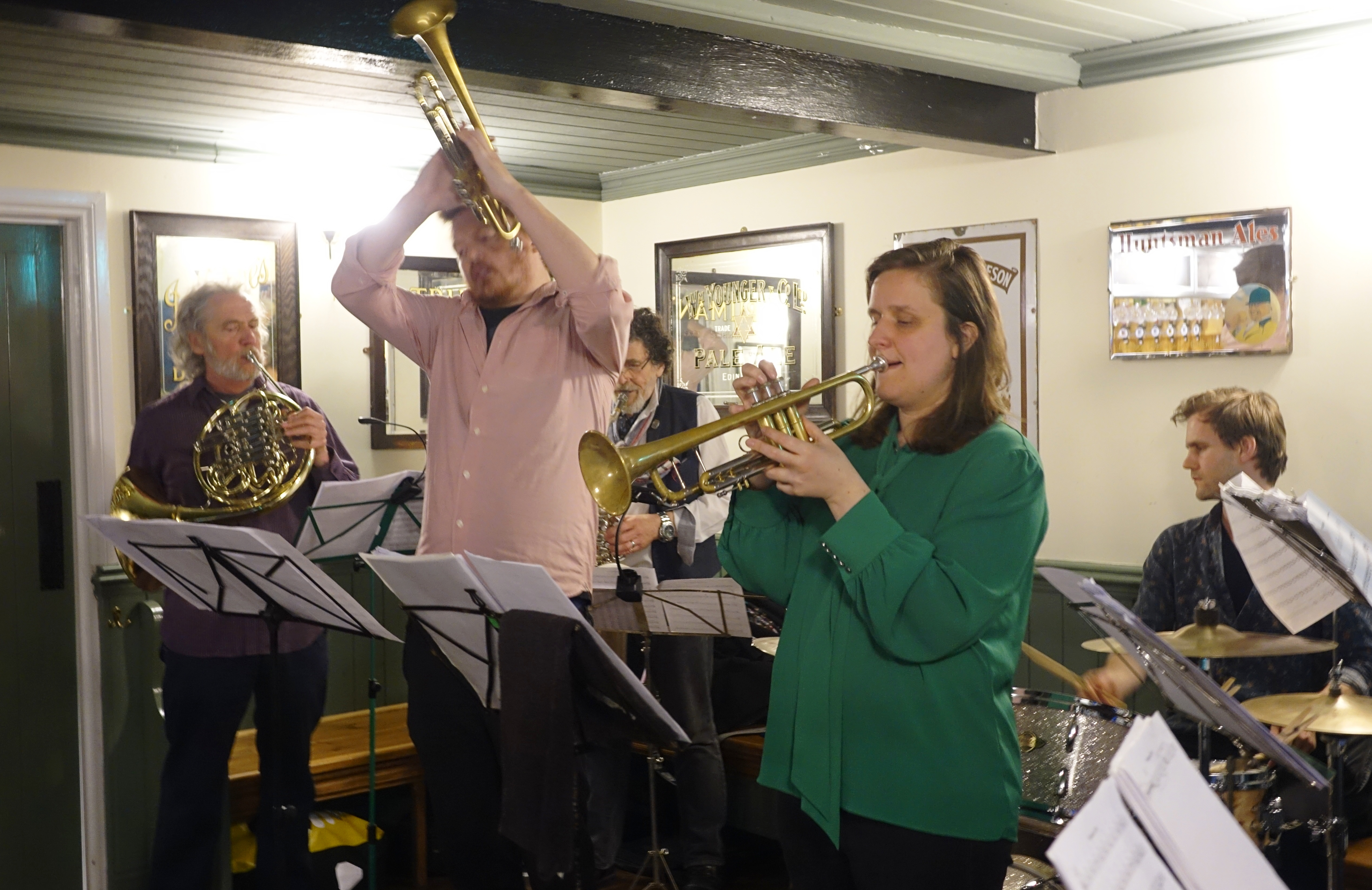 The Brass Monkeys at Fat Percy, Norwich in May 2019