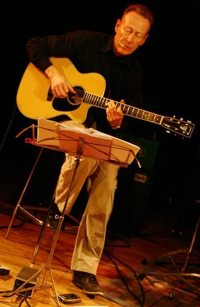 "Christy Doran with ""Acoustic Strings Quartet"" at the Sud Des Alpes, Amr, Geneva, Switzerland, 2006"