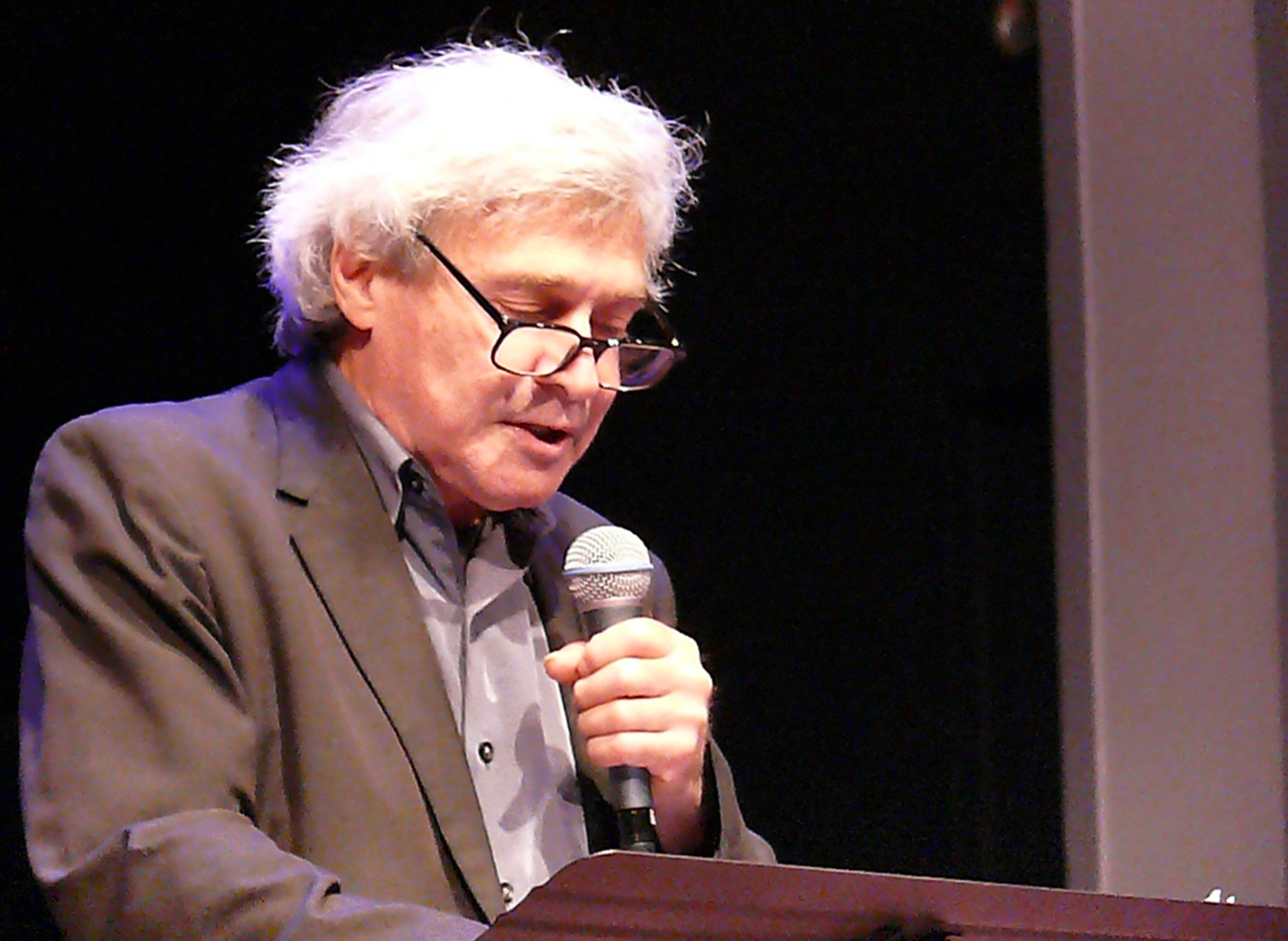 Steve dalachinsky at the vision festival, new york in june 2013
