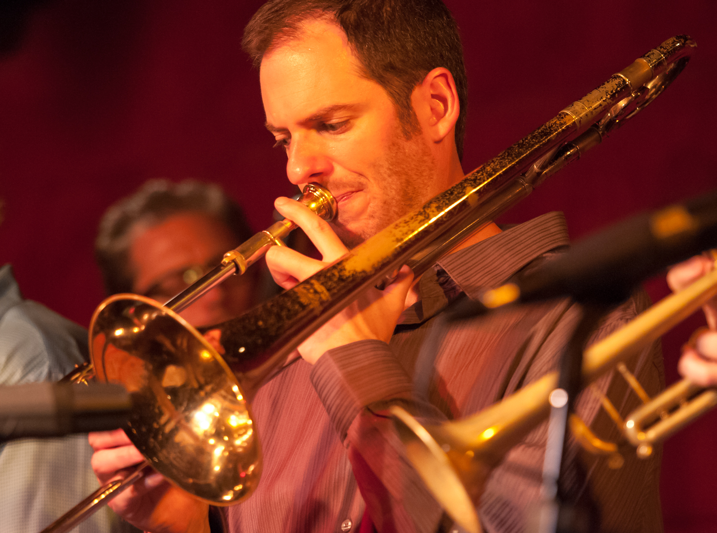 """Joel Yennior with the Either/Orchestra at the Jazz Standard"""" by Dave"""