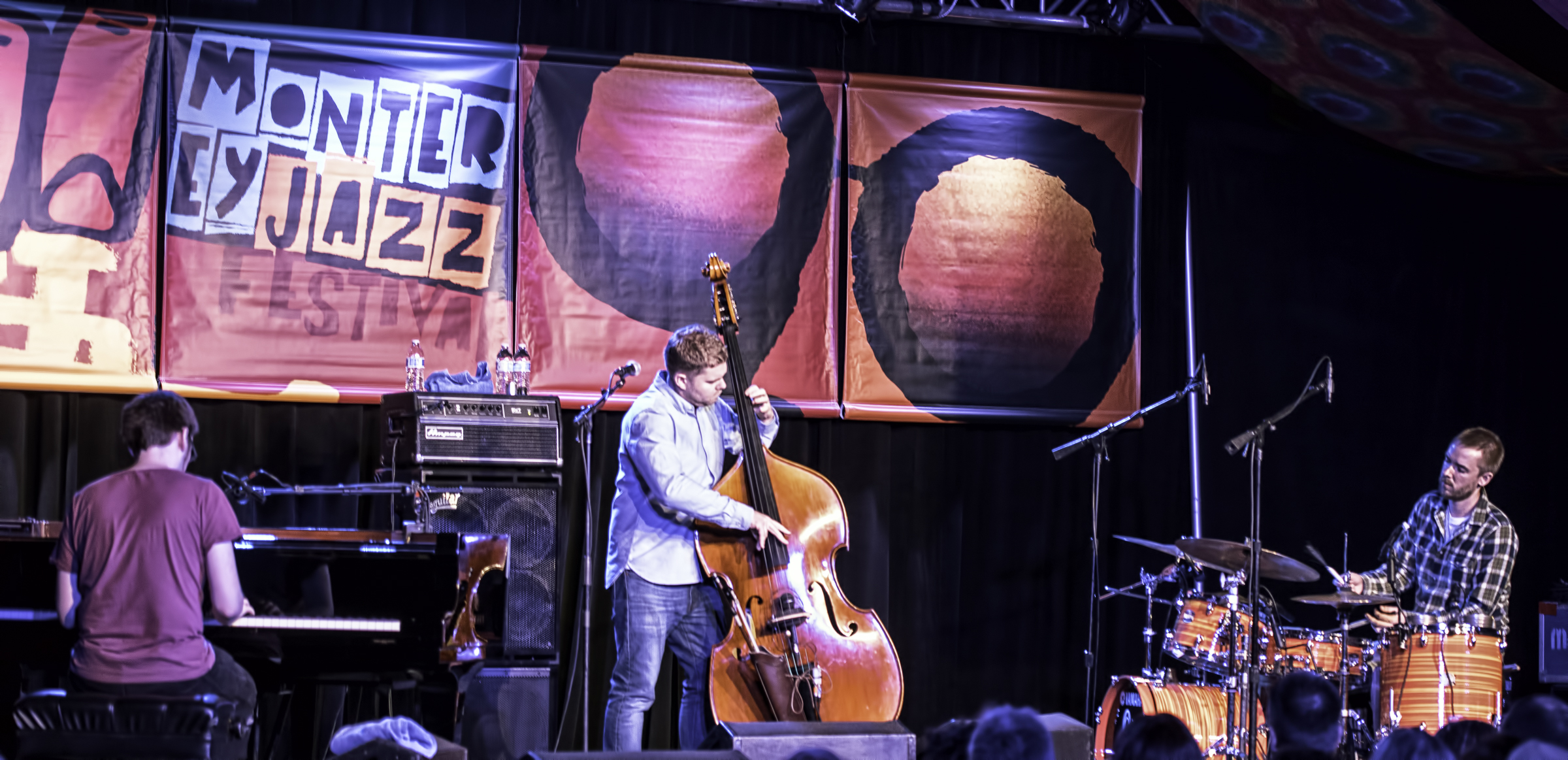 Chris Illingworth, Nick Black and Rob Turner with GoGo Penguin at the Monterey Jazz Festival
