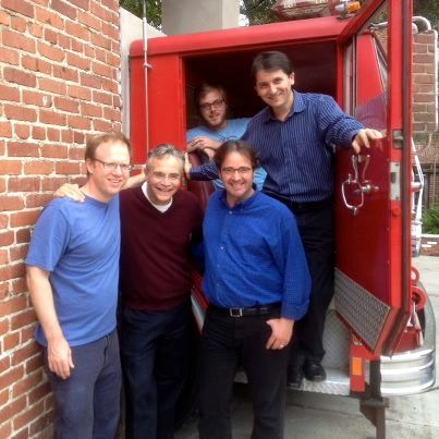 The gang at the firehouse