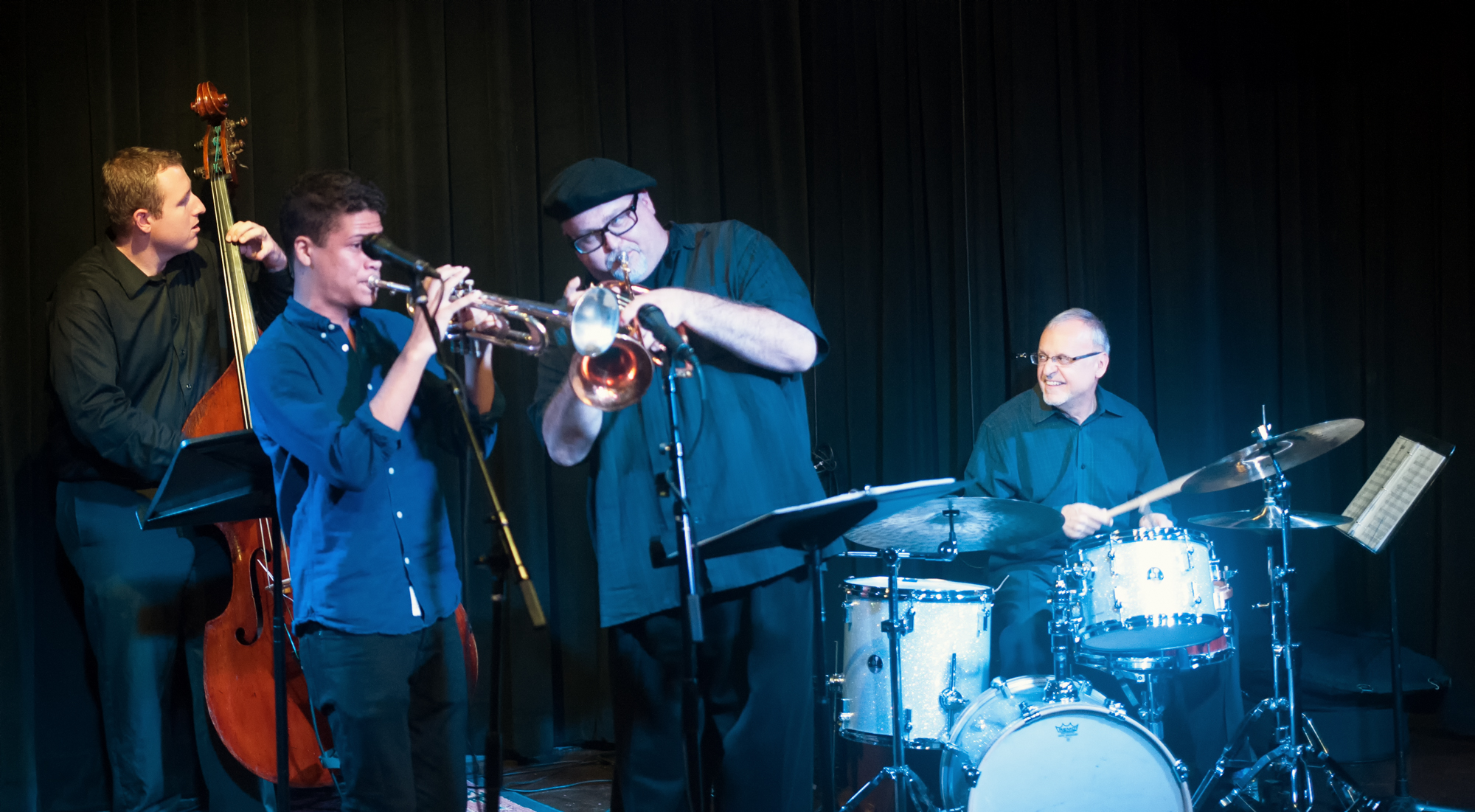 Chris Finet, Noah Simpson, Dmitri Matheny And Dom Moio With The Dmitri Matheny Quartet At The Nash