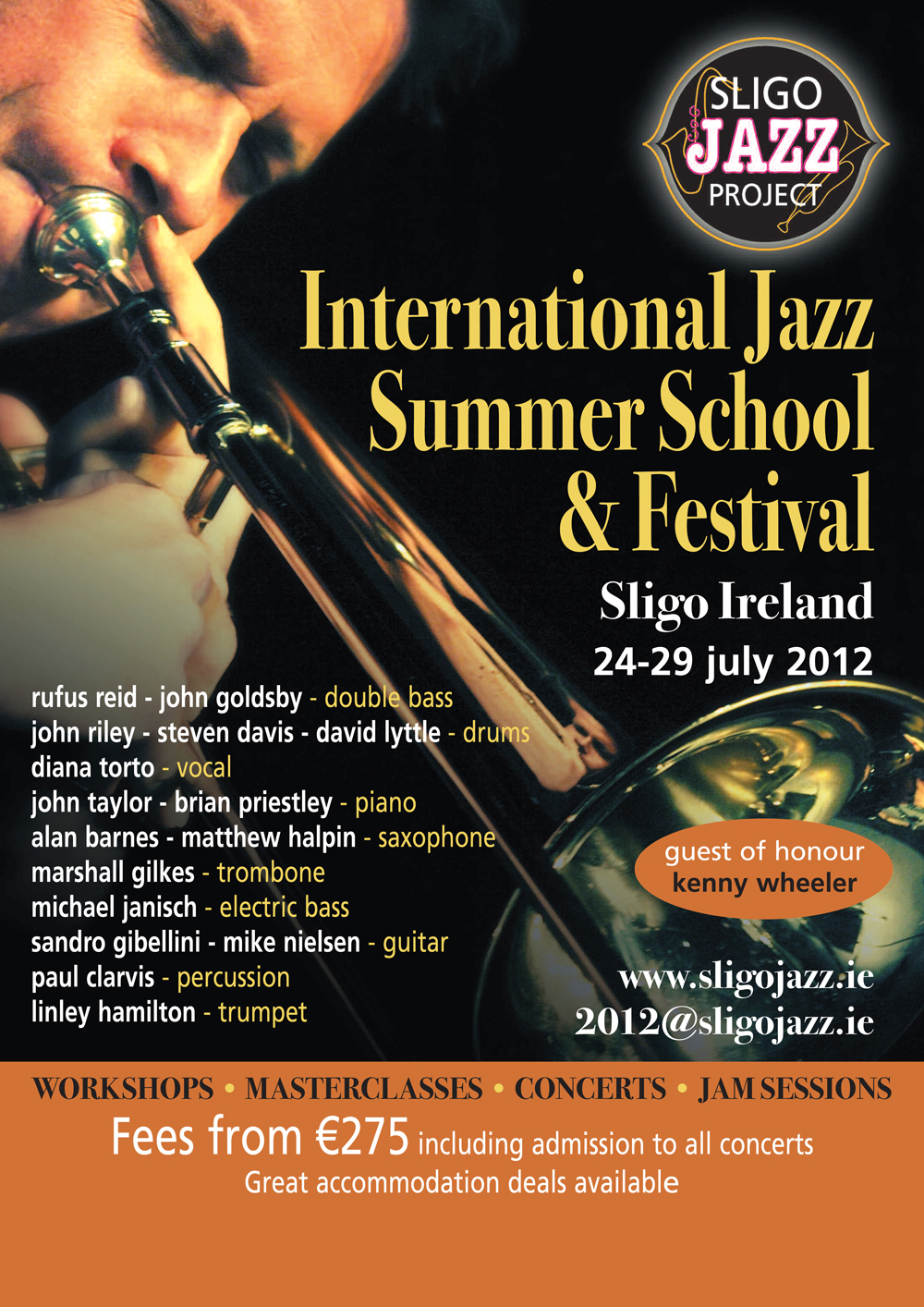 Sligo Jazz Summer School and Festival 24-29 July 2012