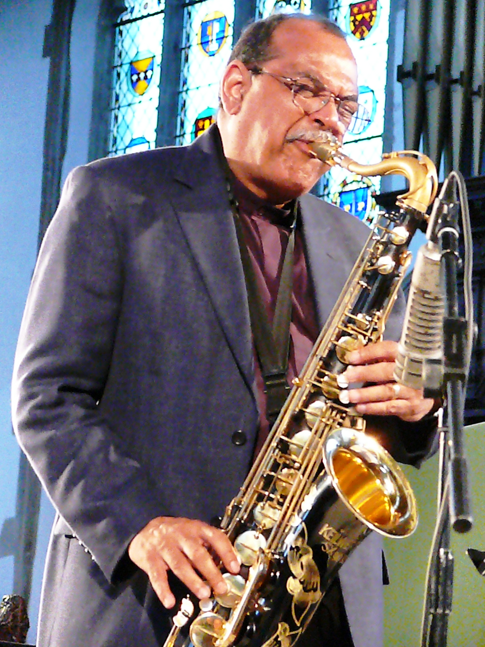 Ernie Watts at St Peter Mancroft, Norwich in May 2011