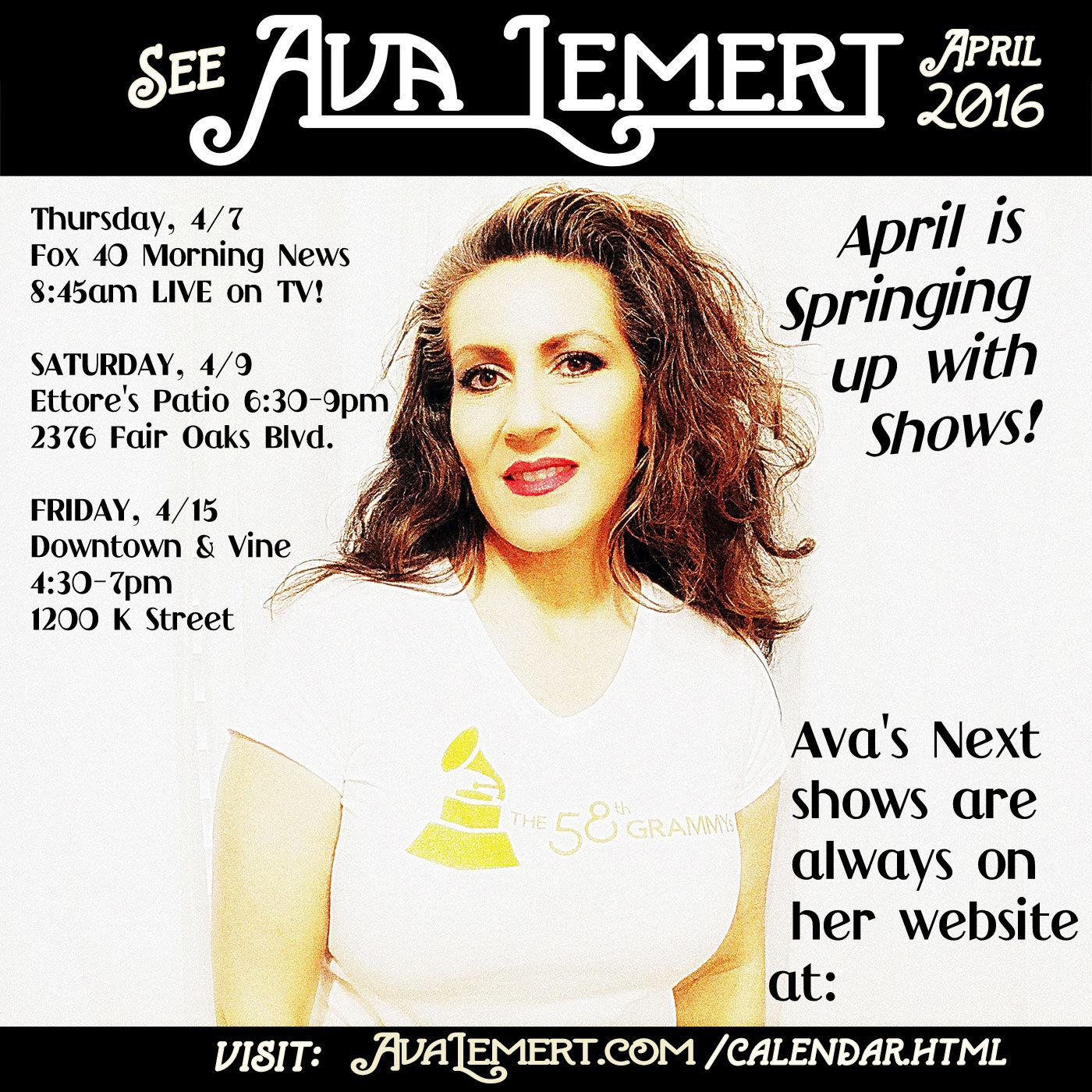 Ava's April Shows!