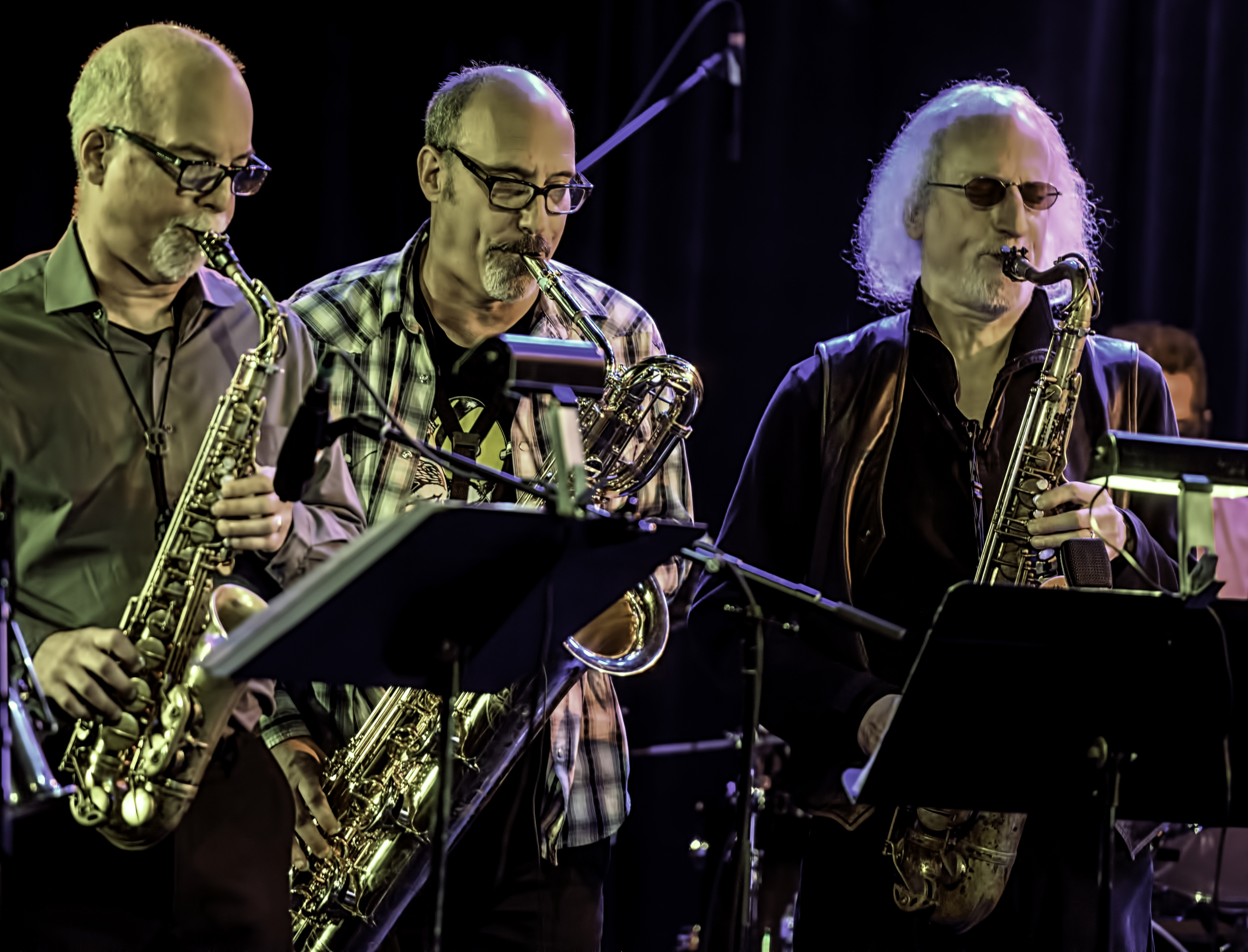 Steve Adams, Jon Raskin and Larry Ochs with Rova's Electric Ascension at the NYC Winter Jazzfest 2016