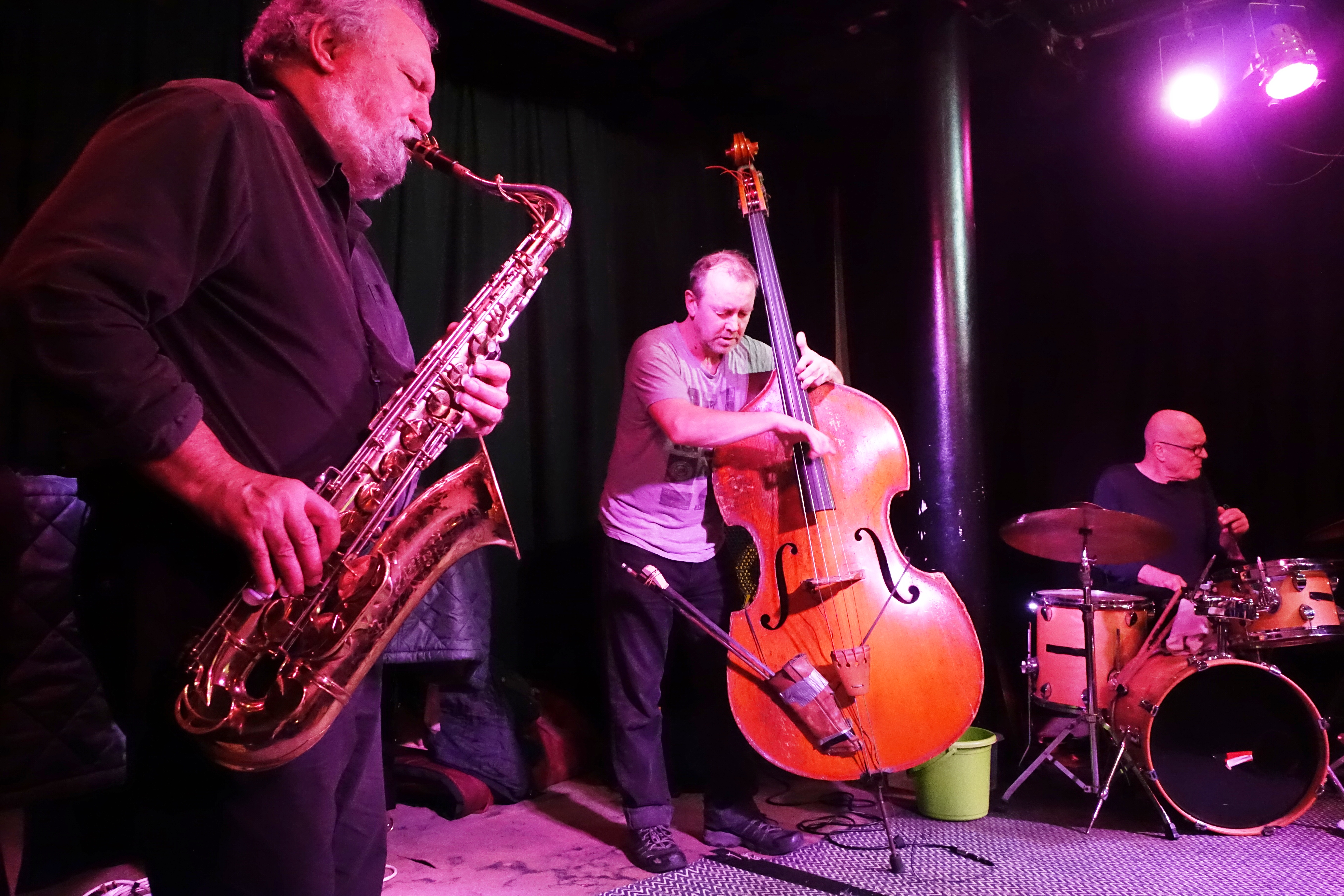 Evan Parker Trio at the Vortex, London in December 2018