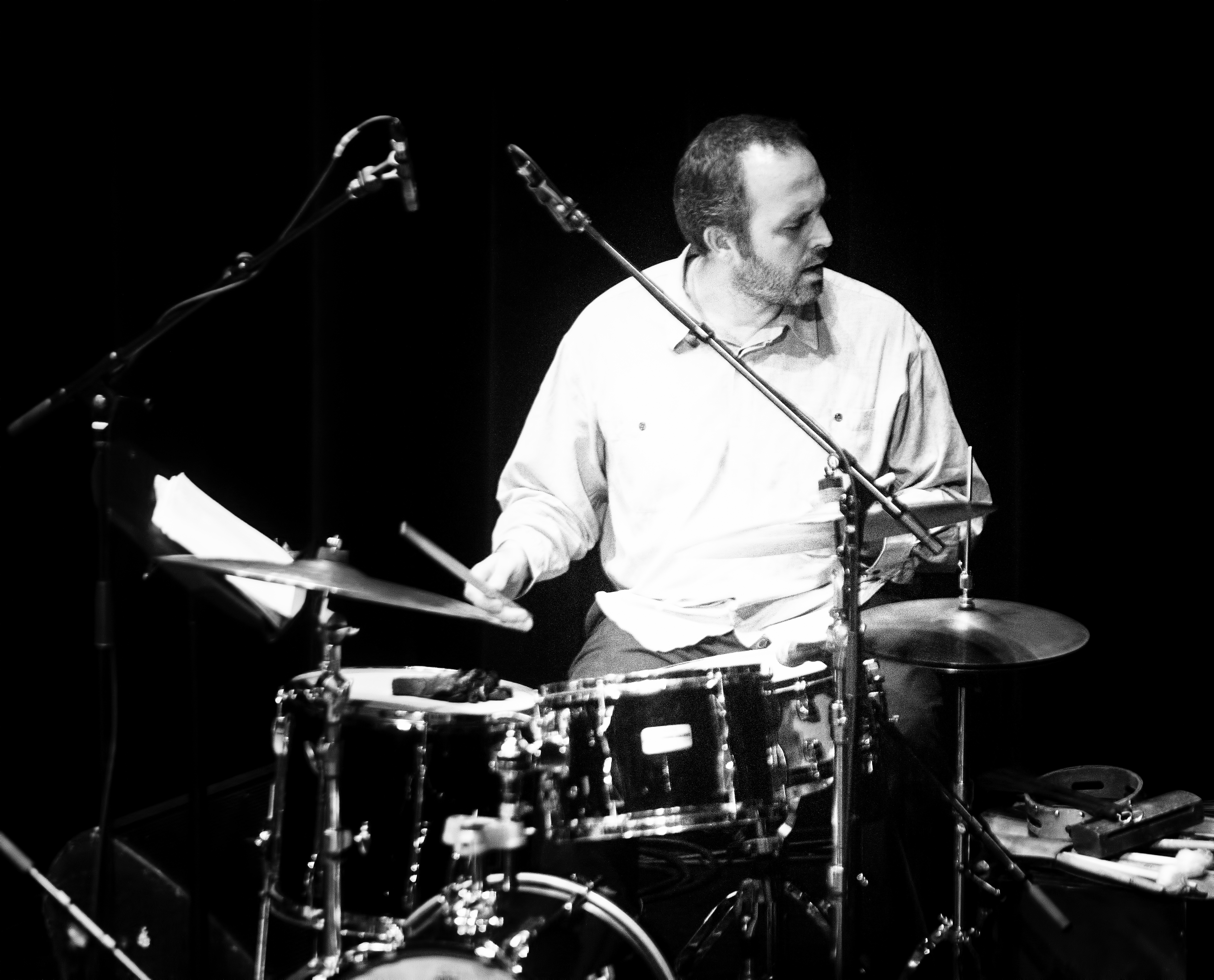 Nick Fraser with the Brodie West Quintet at the Guelph Jazz Festival 2019