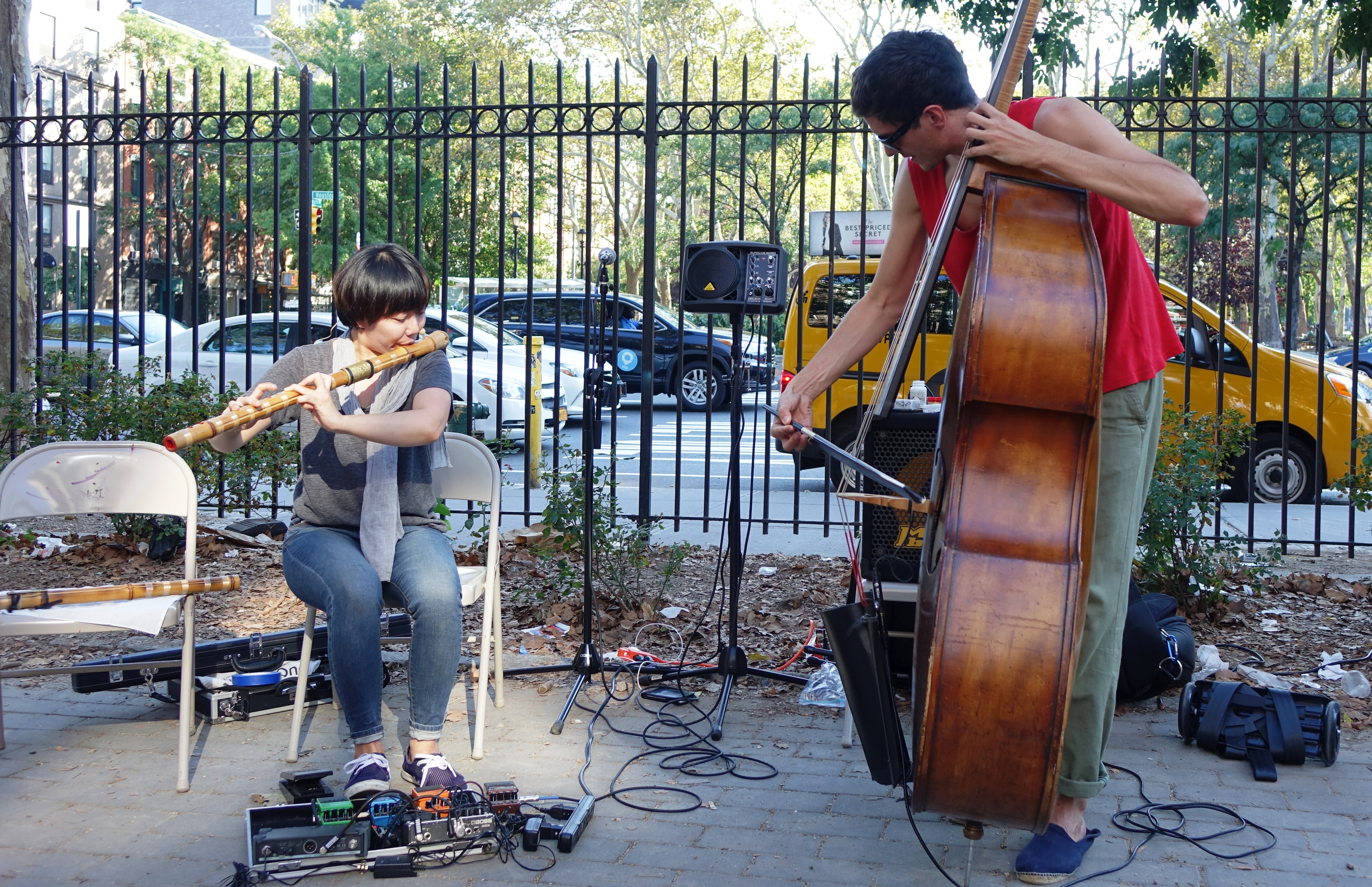 Seungmin Cha and Henry Fraser at First Street Green, NYC in September 2017