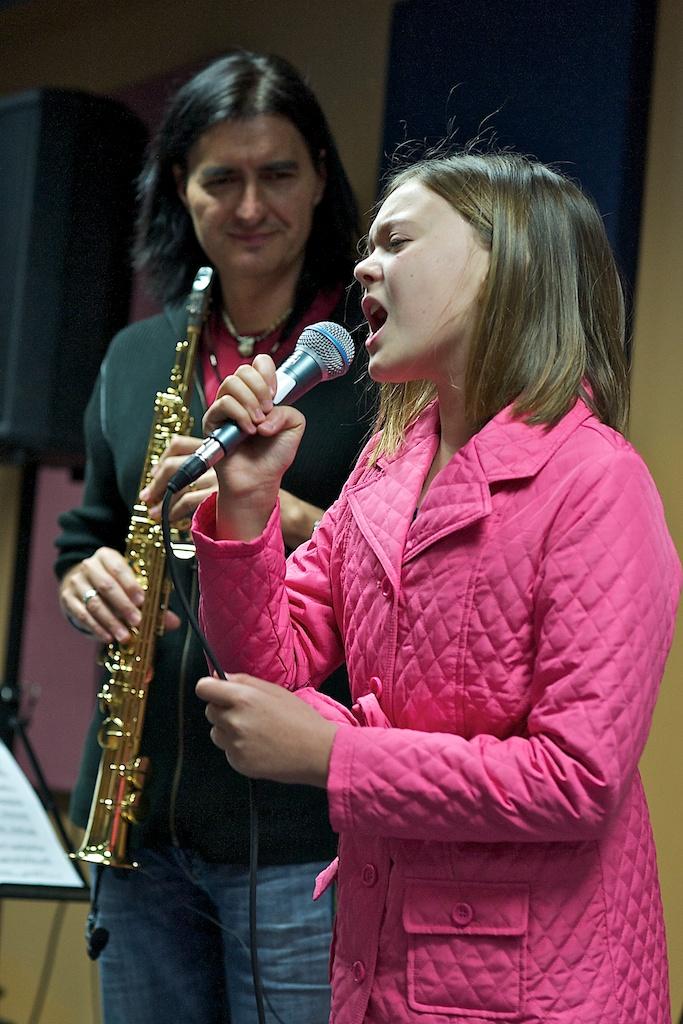 Warren Hill with Daughter Olivia - Long & McQuade Sax Clinic - Toronto