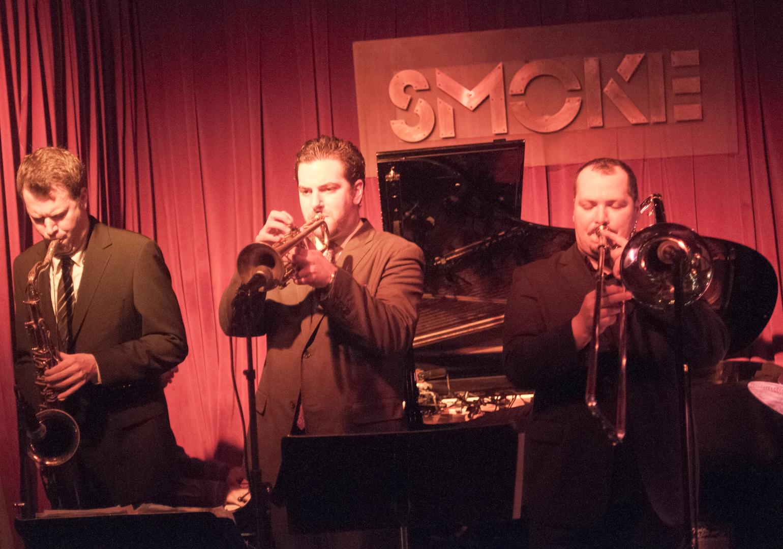 Ken Fowser, Josh Bruneau and Michael Deese with the Ken Fowser Sextet at Smoke Jazz Club