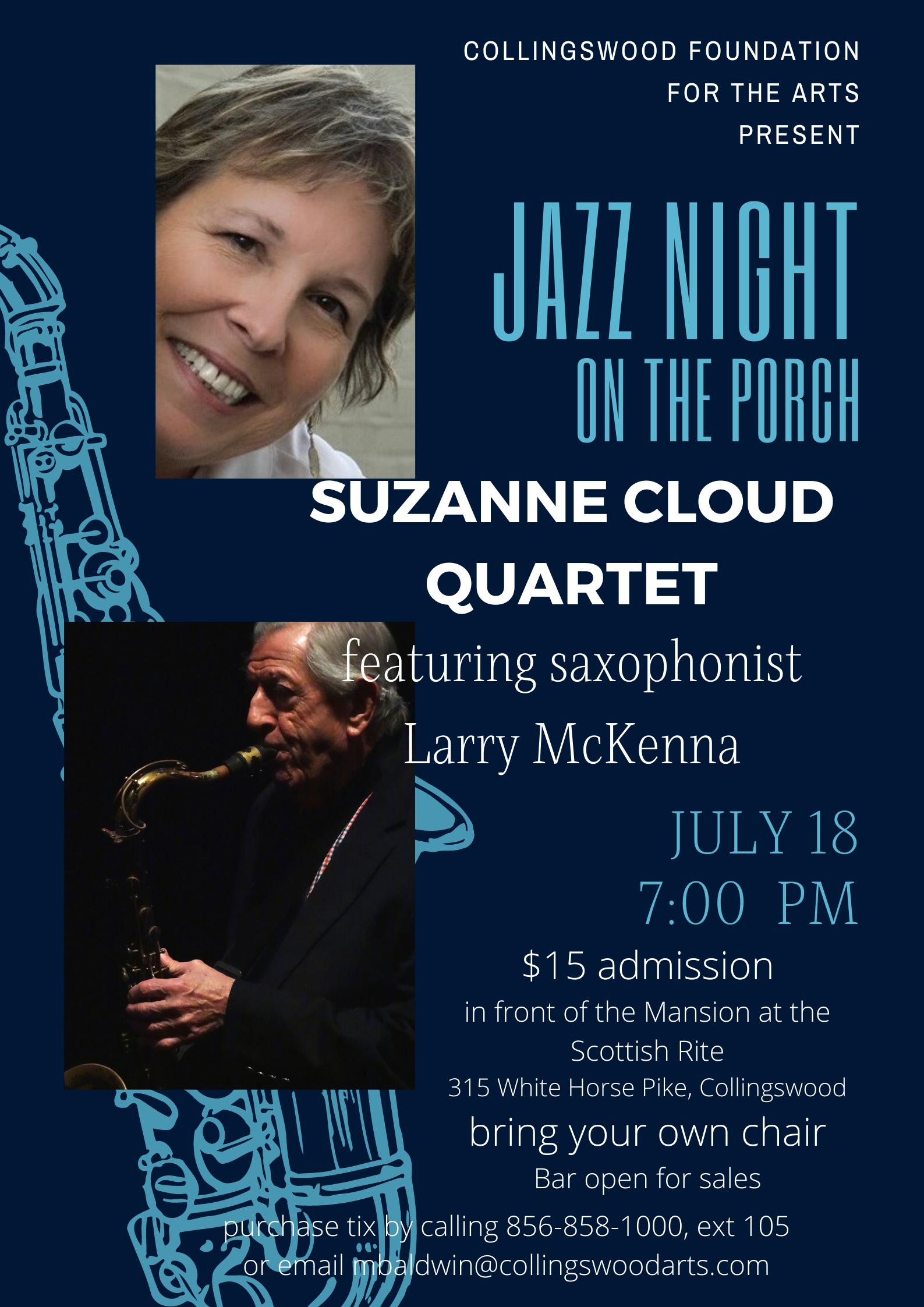 Suzanne Cloud Quartet With Saxophonist Larry McKenna