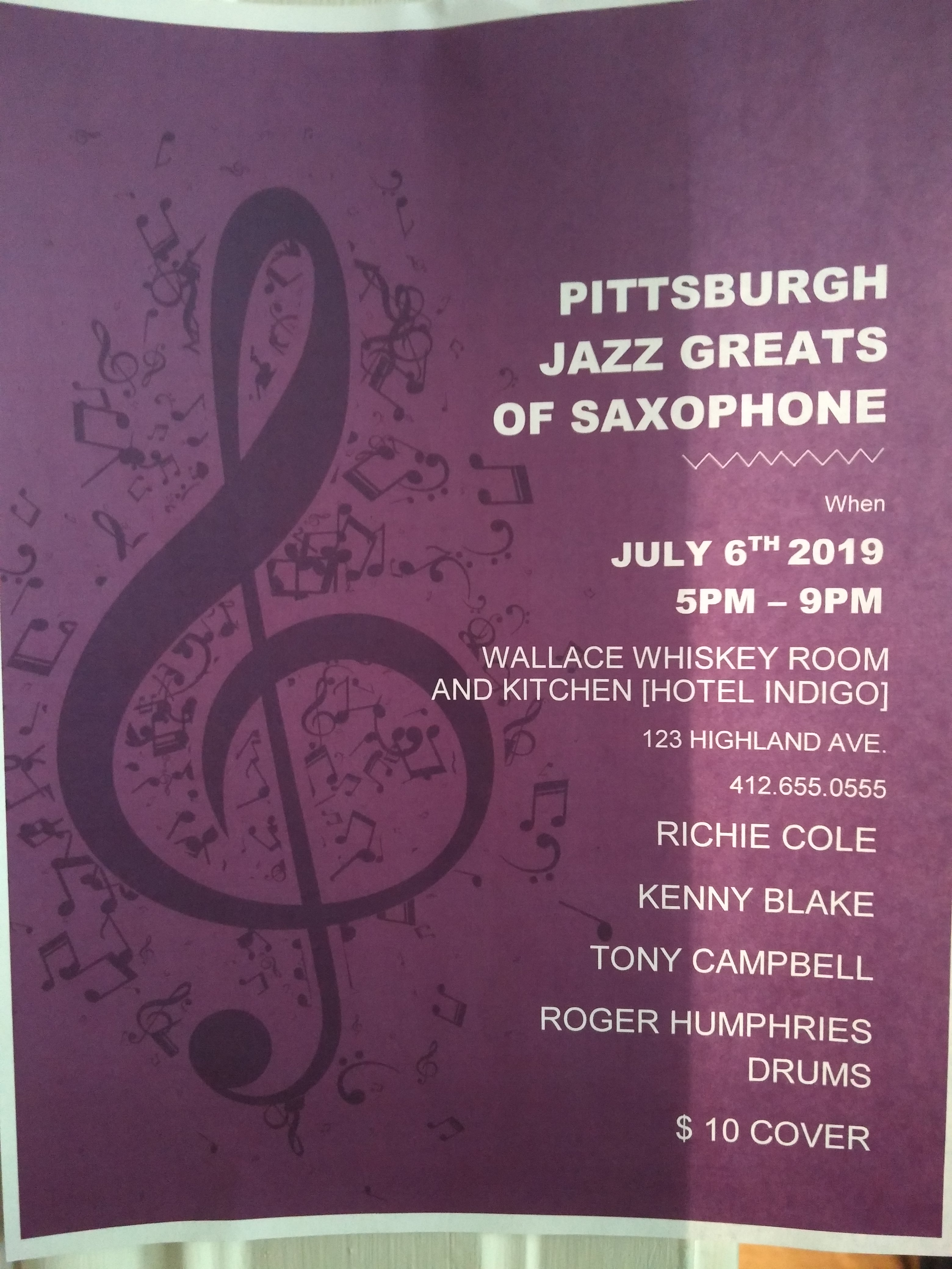 Pitsburgh Jazz Greats Of Saxophone