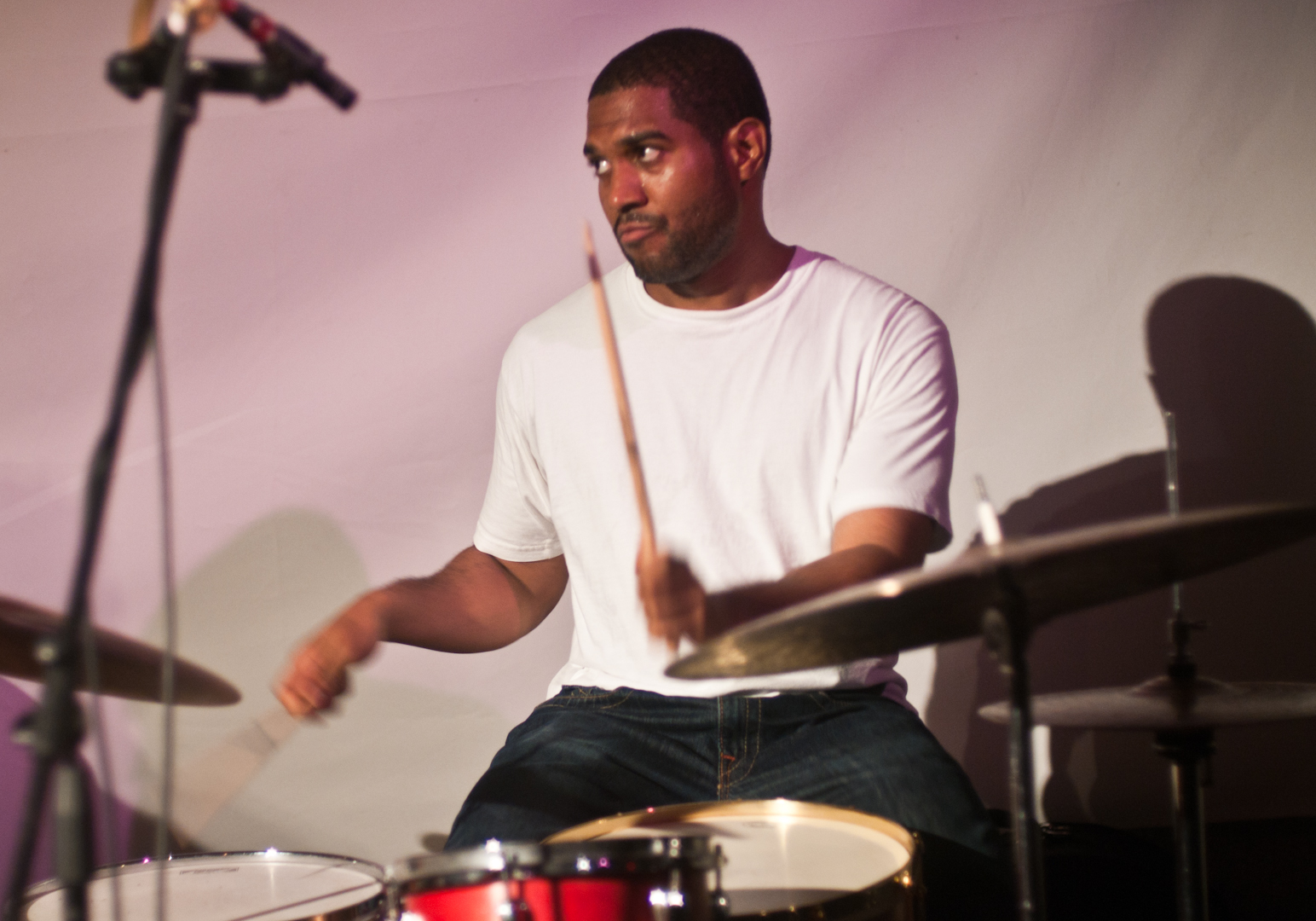 Damion Reid with Jonathan Finlayson's Sicilian Defense at the Vision Festival 2011