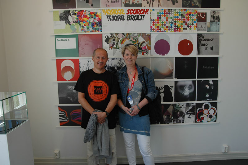 Rune Kriistoffersen, Head of Rune Grammofon, and BBC Radio 3's Fiona Talkington at Rune Grammofon Art Exhibit, Label in Residence at Molde Jazz 2010