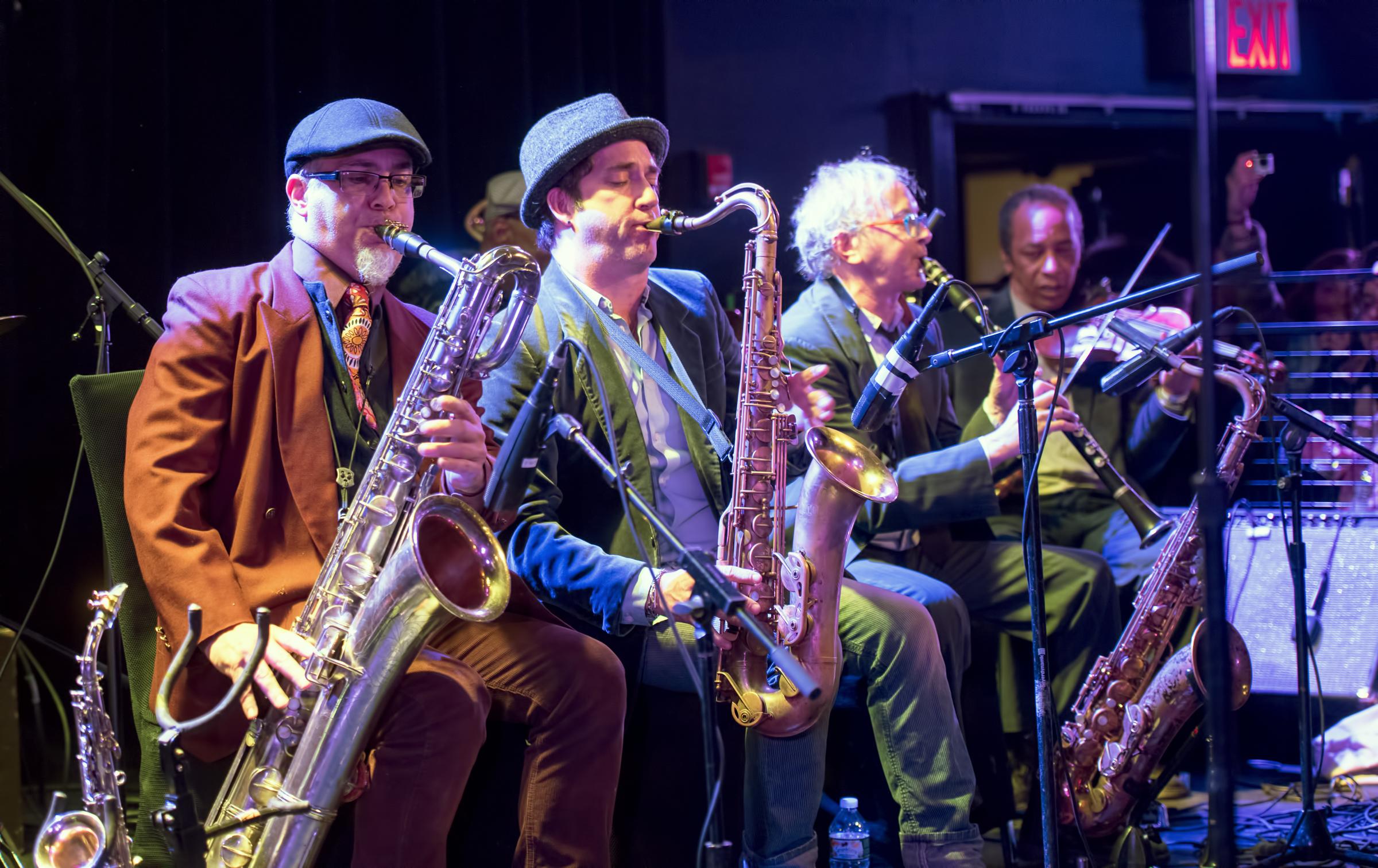 Erik Lawrence, Peter Apfelbaum, Doug Wieselman, Charlie Burnham with Butler, Bernstein & the Hot 9 at the Nyc Winter Jazzfest 2015