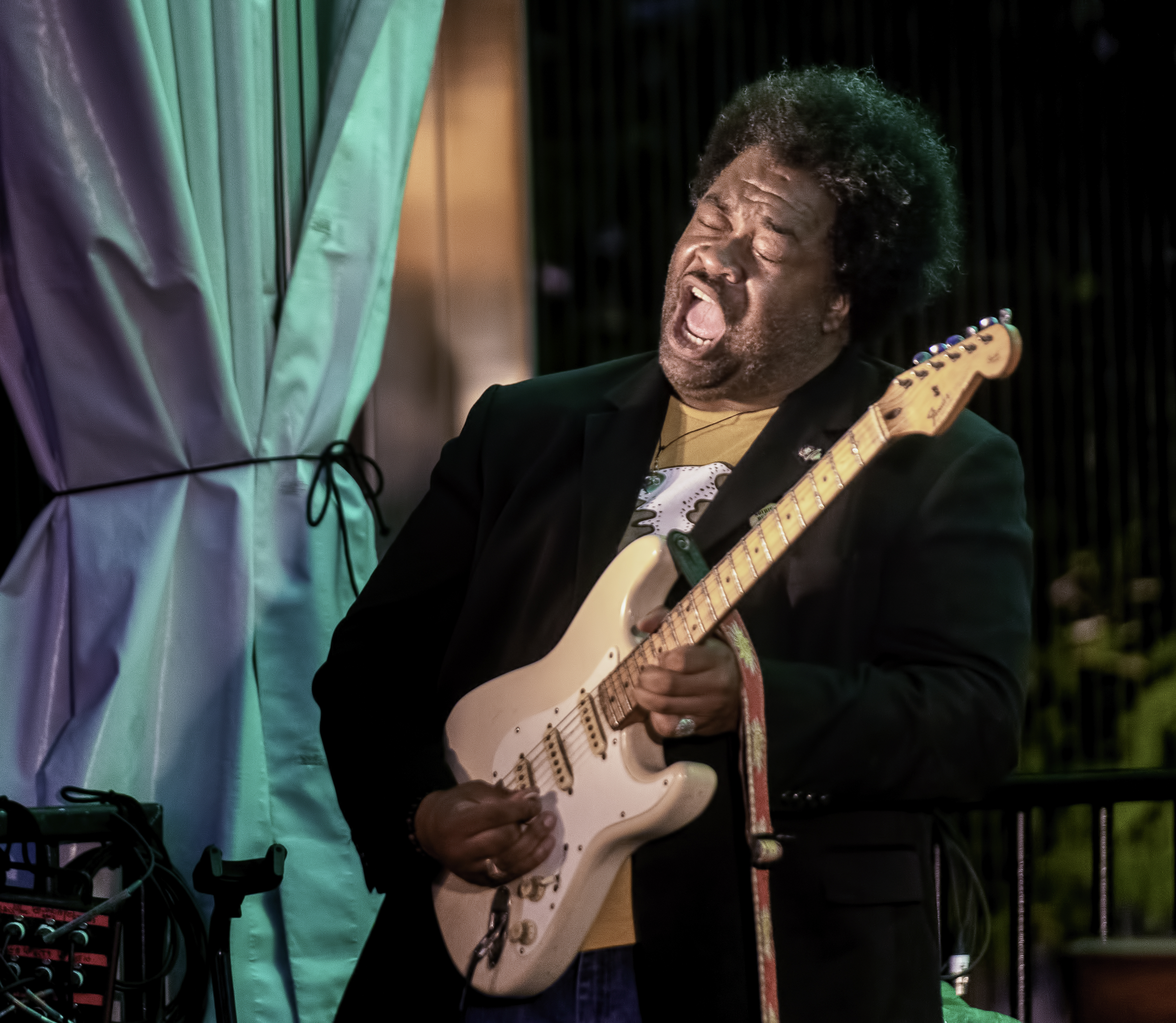 Jimmy James with the Delvon Lamarr Organ Trio at the Toronto Jazz Festival 2019
