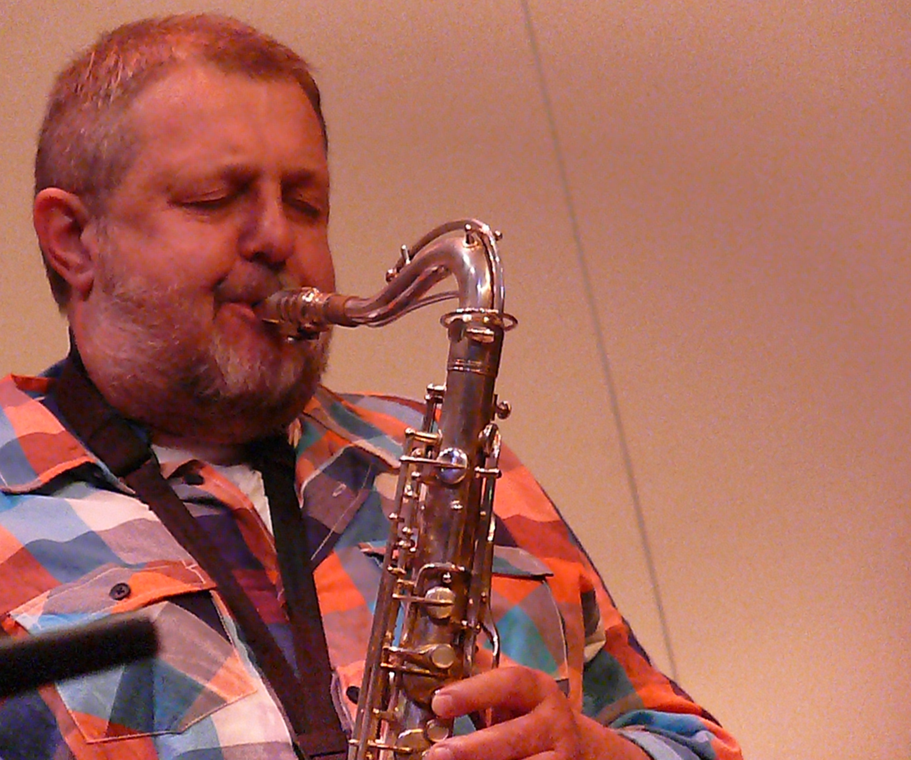Paul Dunmall at Leicester Arts Centre in October 2010