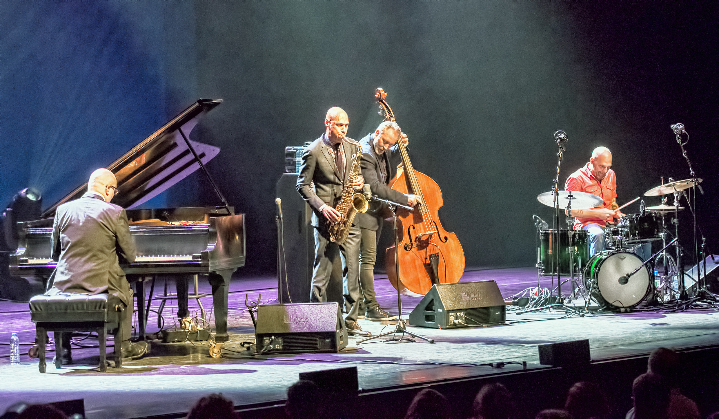 Ethan Iverson, Joshua Redman, Reid Anderson and Dave King with the Bad Plusat the Montreal International Jazz Festival 2015
