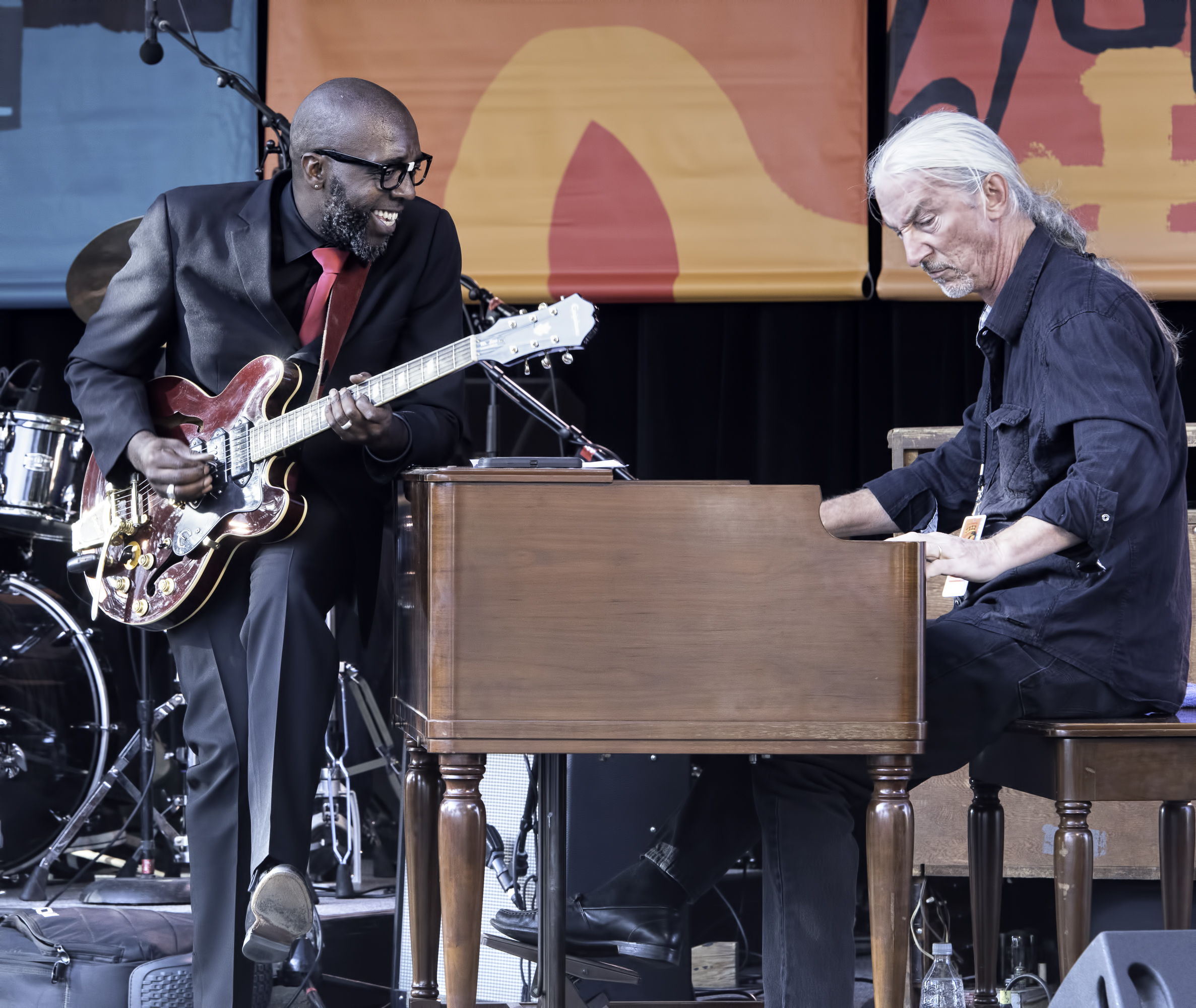 Castro Coleman and Carroll McLaughlin with Mr. Sipp at the Monterey Jazz Festival